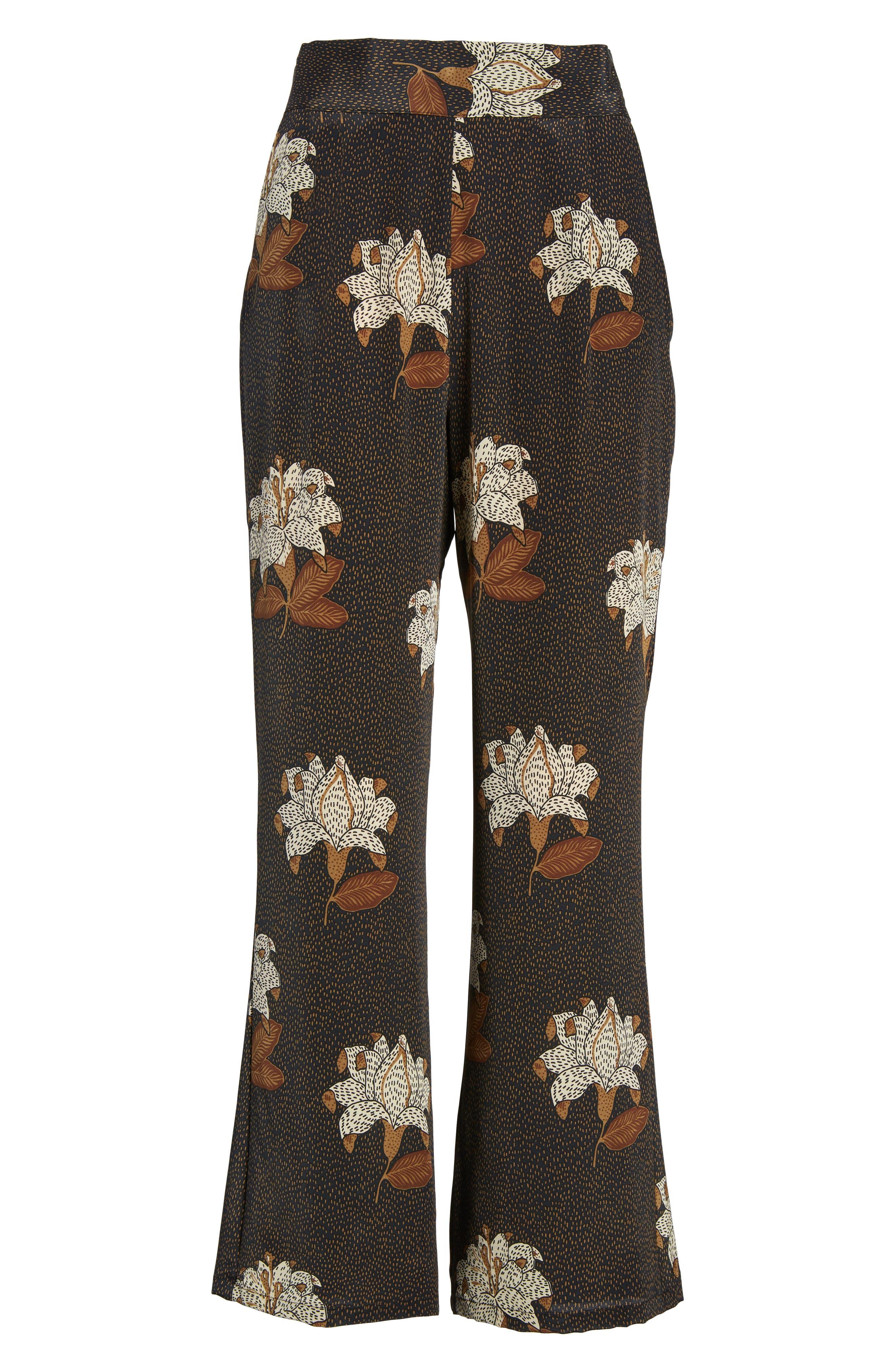 Isla Silk Crop Pants,                             Alternate thumbnail 6, color,                             Dries