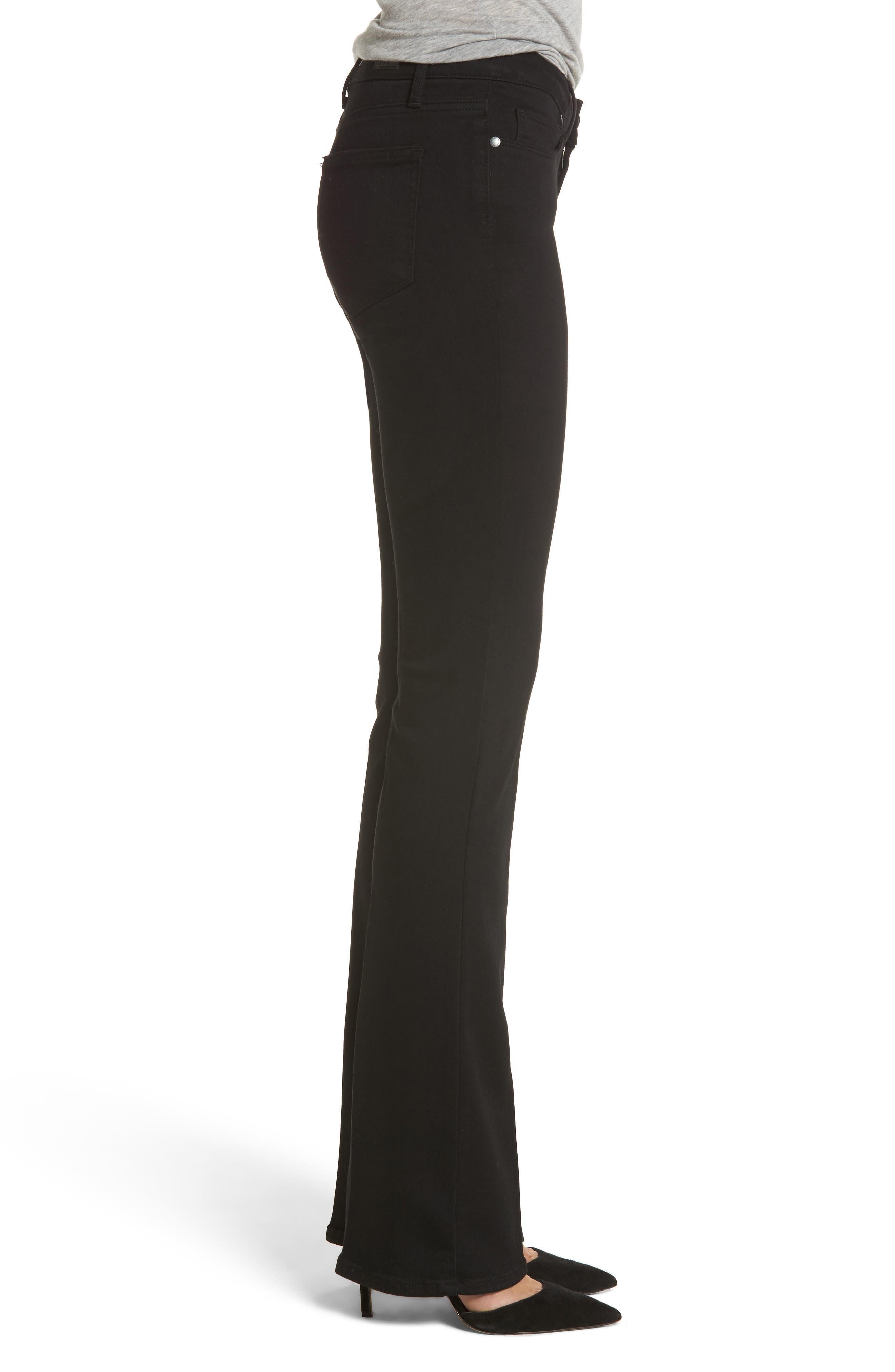 Alternate Image 3  - PAIGE Transcend - Manhattan Bootcut Jeans (Black Shadow)