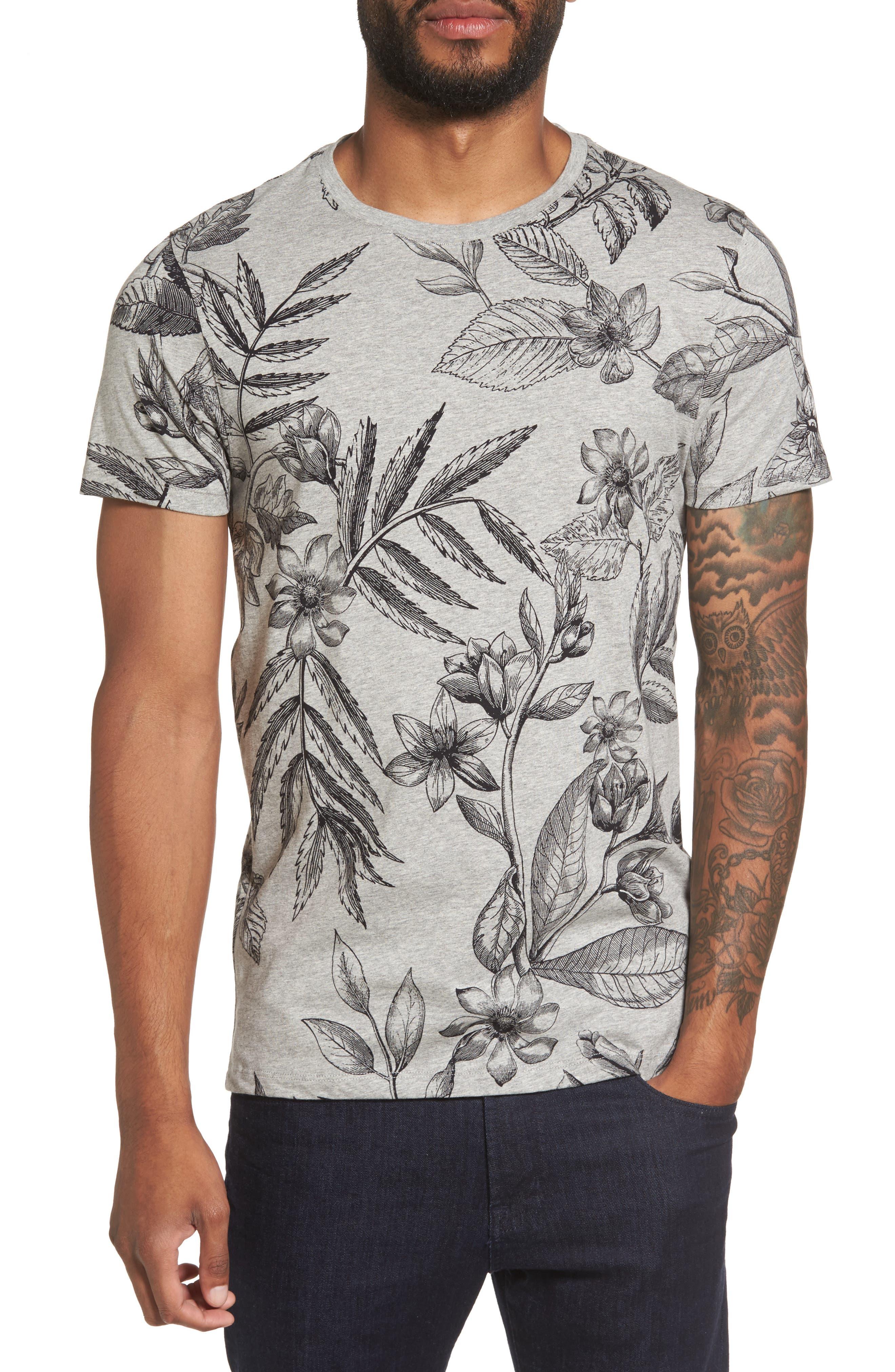 Alternate Image 1 Selected - Ted Baker London Peggi Floral Print T-Shirt