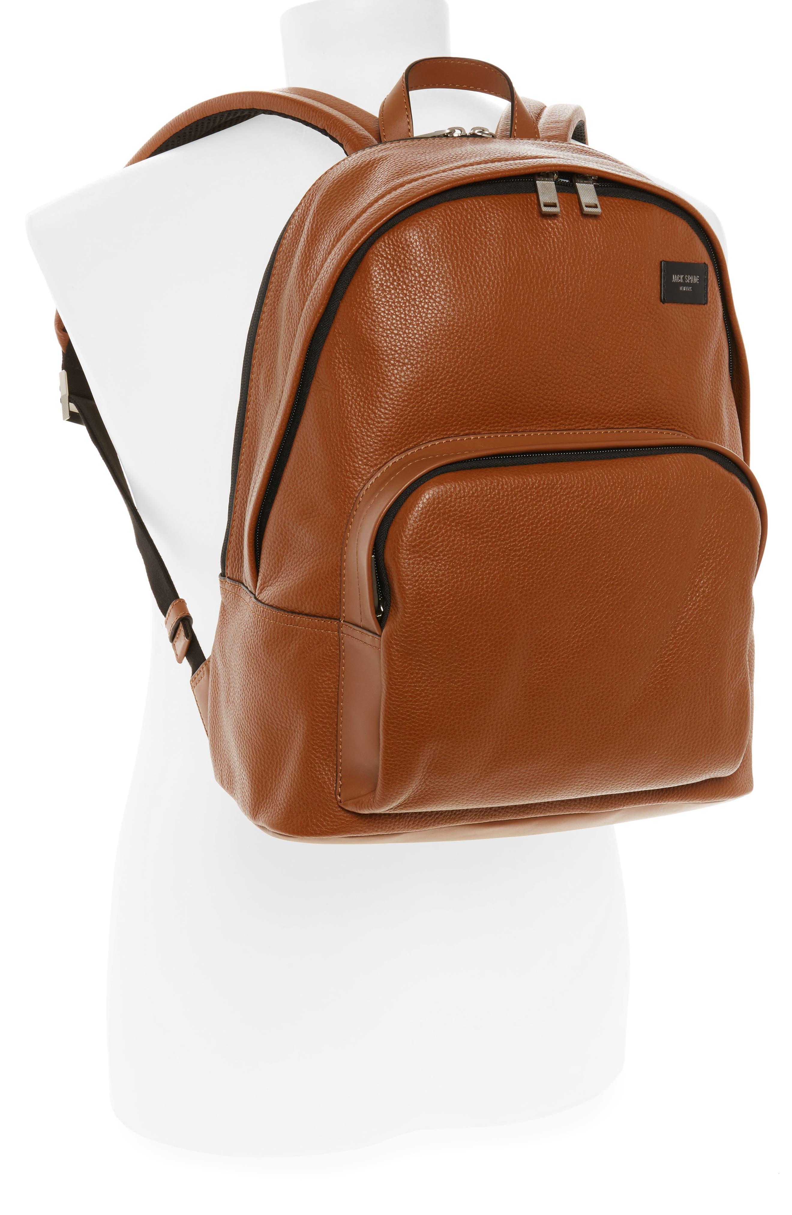 Alternate Image 2  - Jack Spade Pebbled Leather Backpack