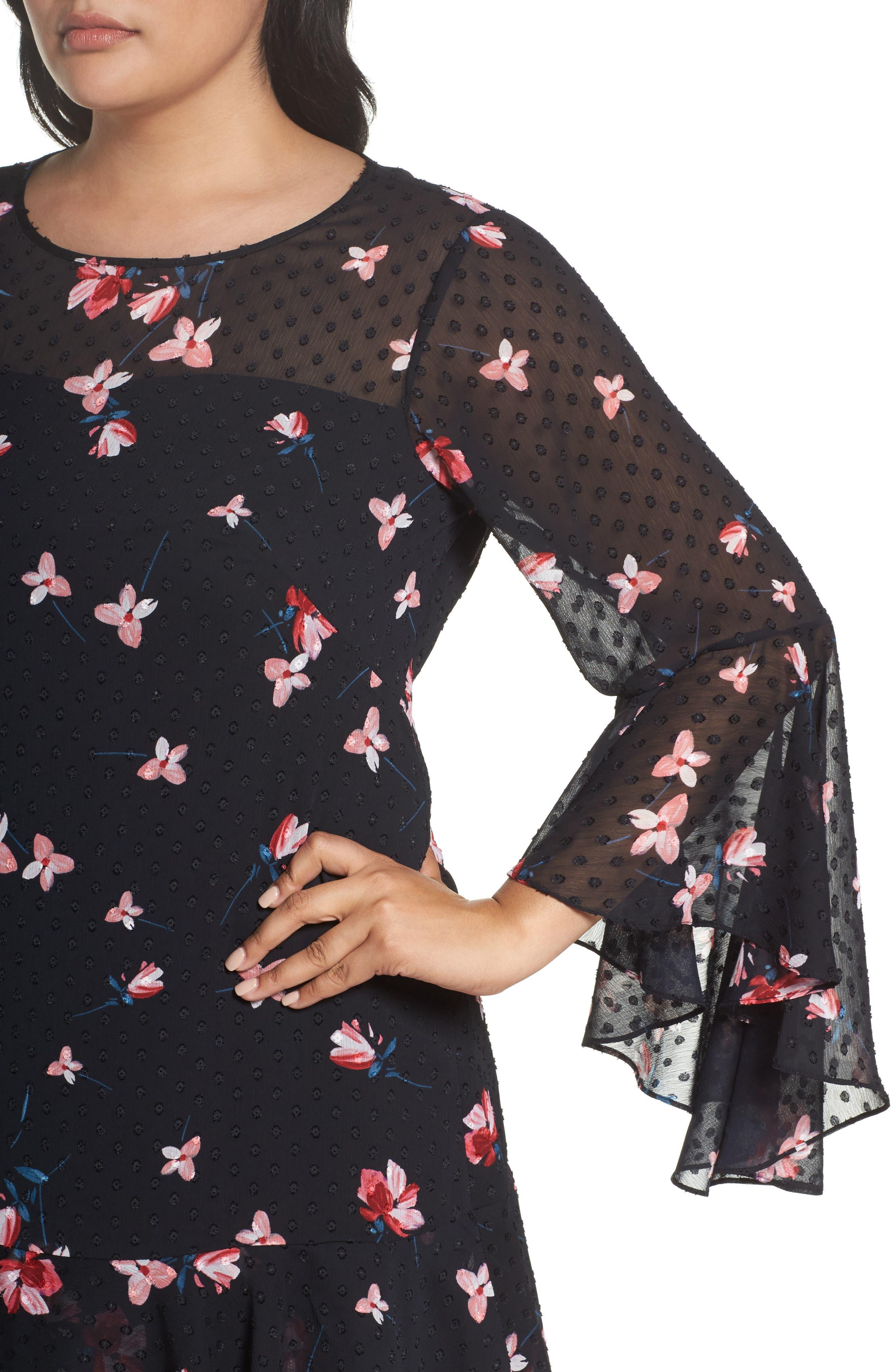 Alternate Image 5  - Eliza J Ruffle Fit & Flare Dress (Plus Size)