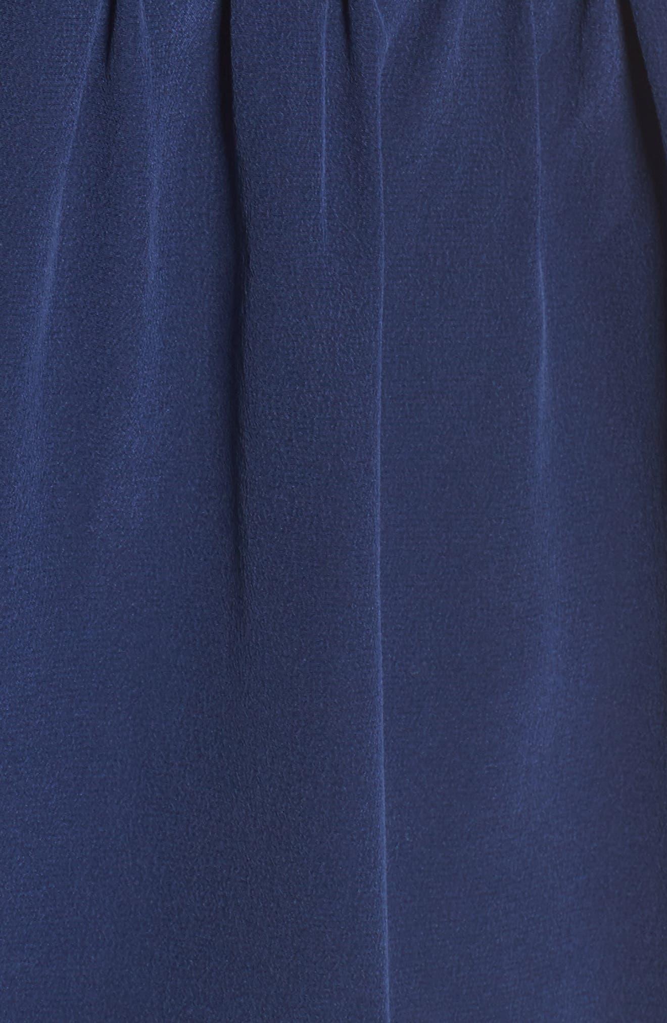 Bilson Fit & Flare Silk Dress,                             Alternate thumbnail 6, color,                             Marine