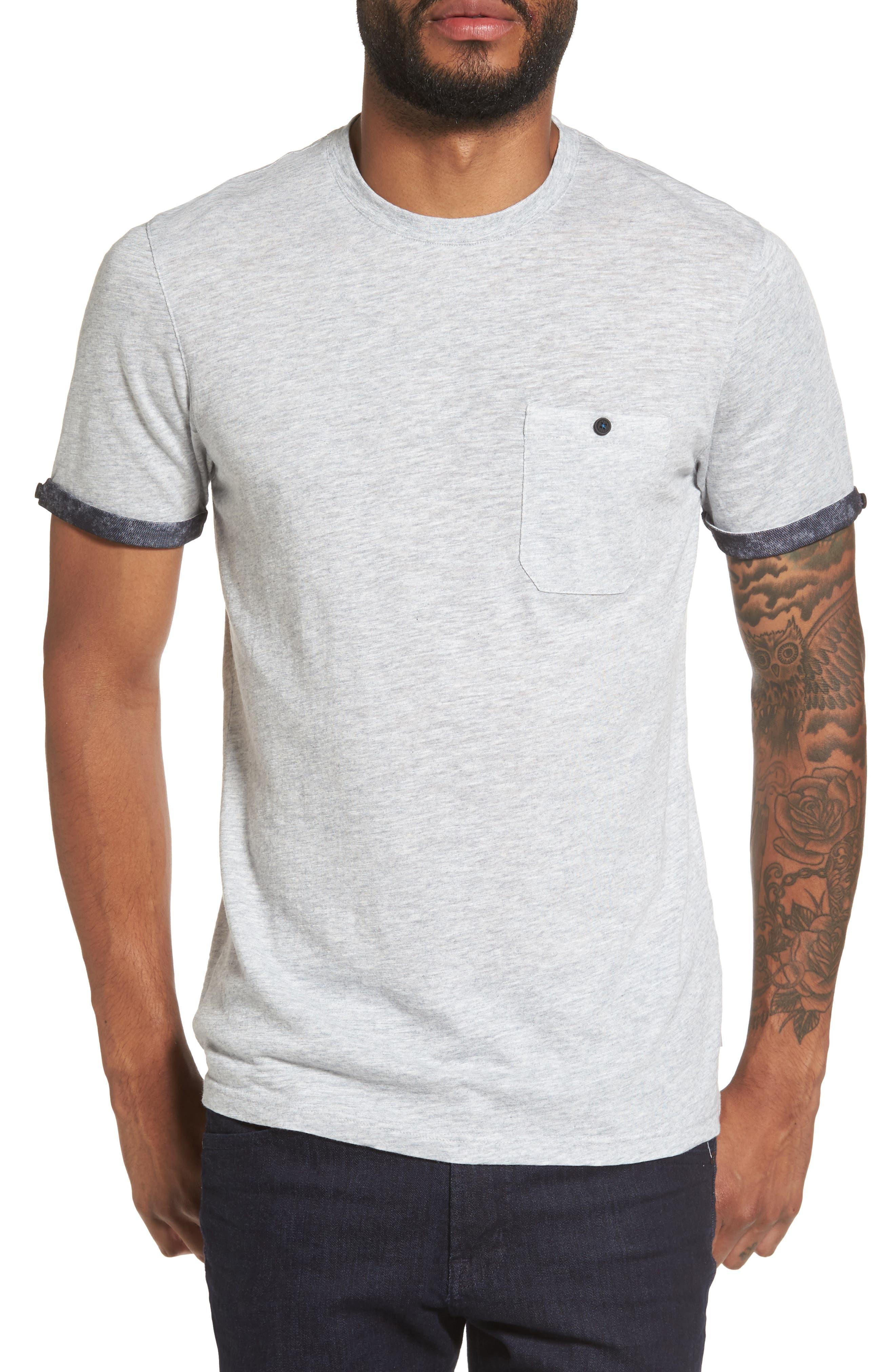 Samsal Pocket T-Shirt,                         Main,                         color, Grey Marl