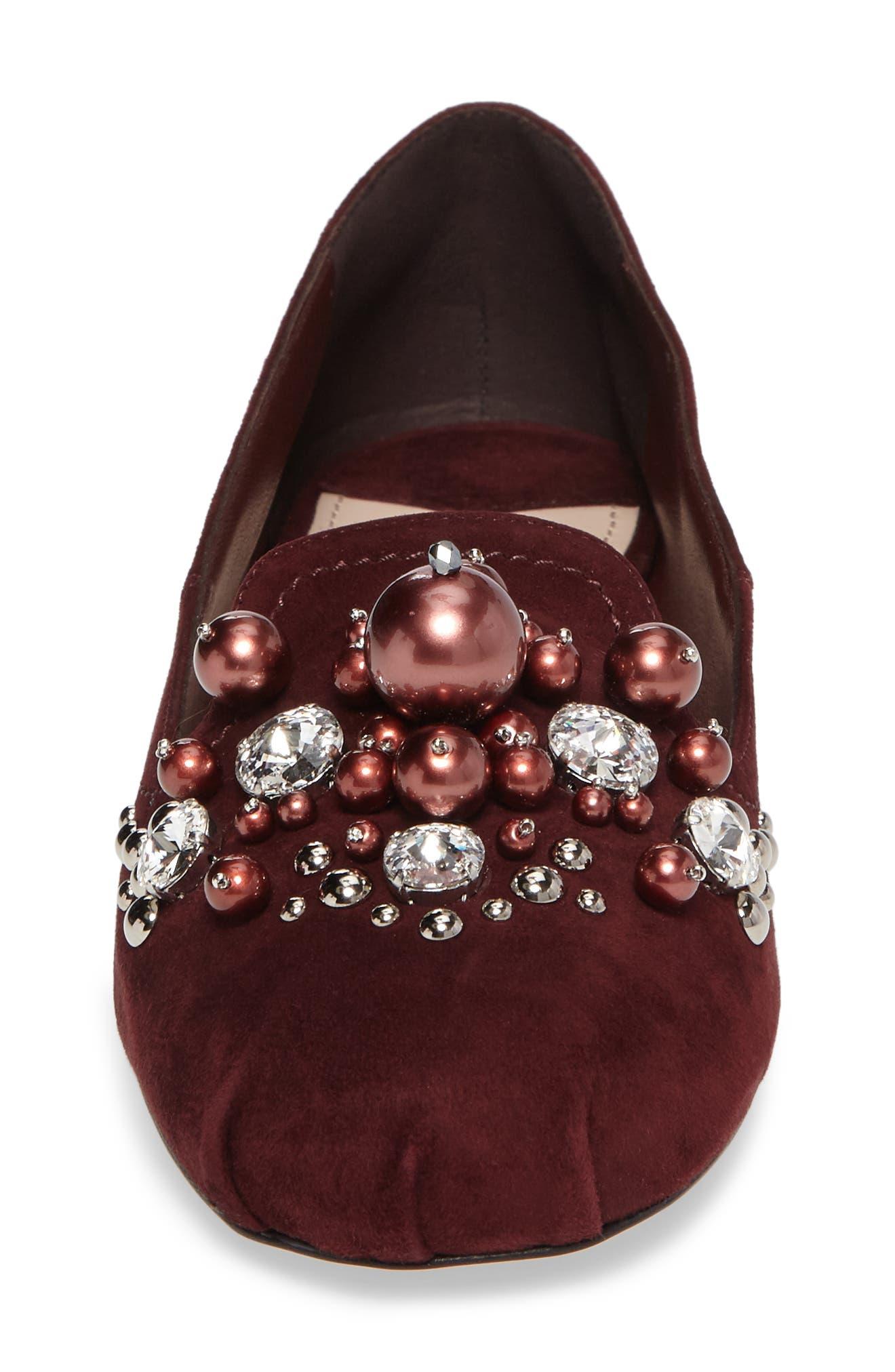 Alternate Image 4  - Miu Miu Embellished Loafer (Women)