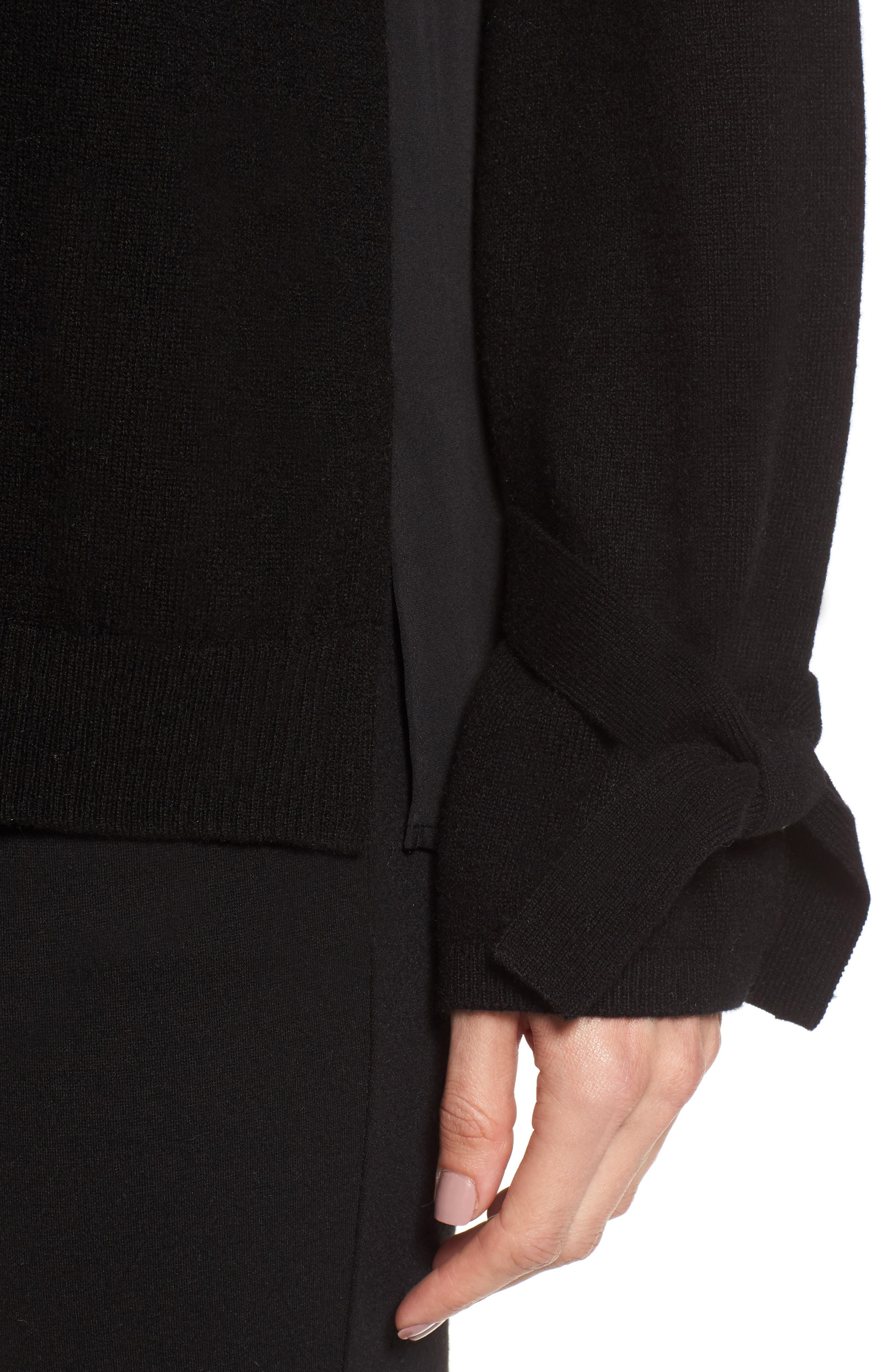 Alternate Image 4  - Nordstrom Signature Cashmere & Stretch Silk Pullover