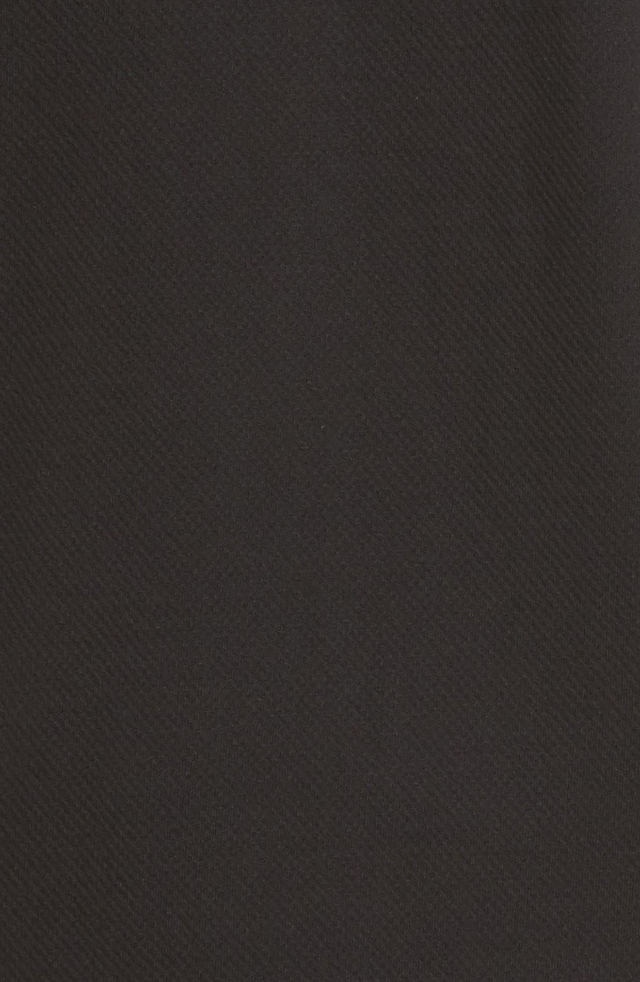 Zip Fleece Bomber Jacket,                             Alternate thumbnail 6, color,                             Black Caviar