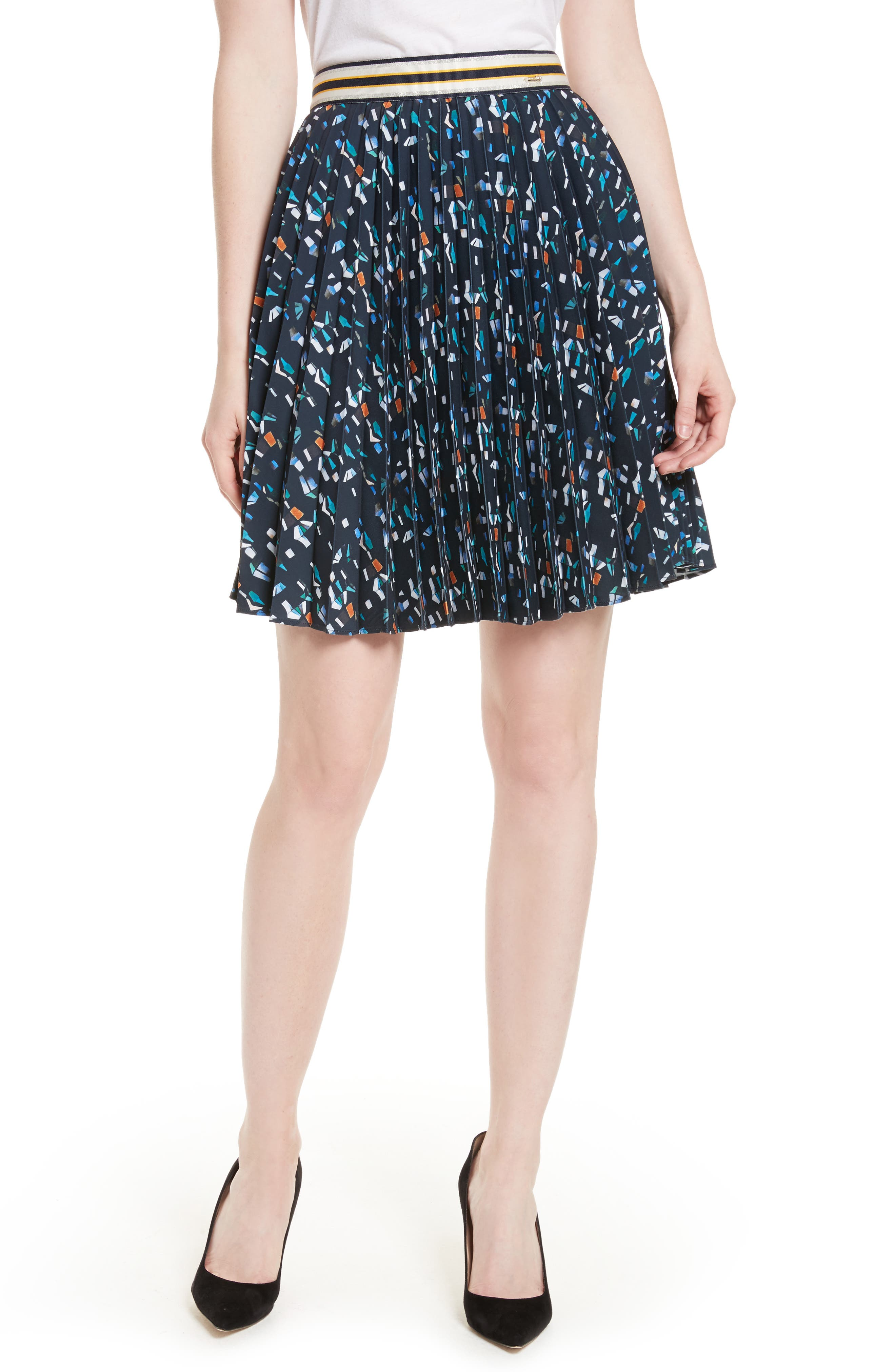 Main Image - Ted Baker London Motrie Pleated Miniskirt