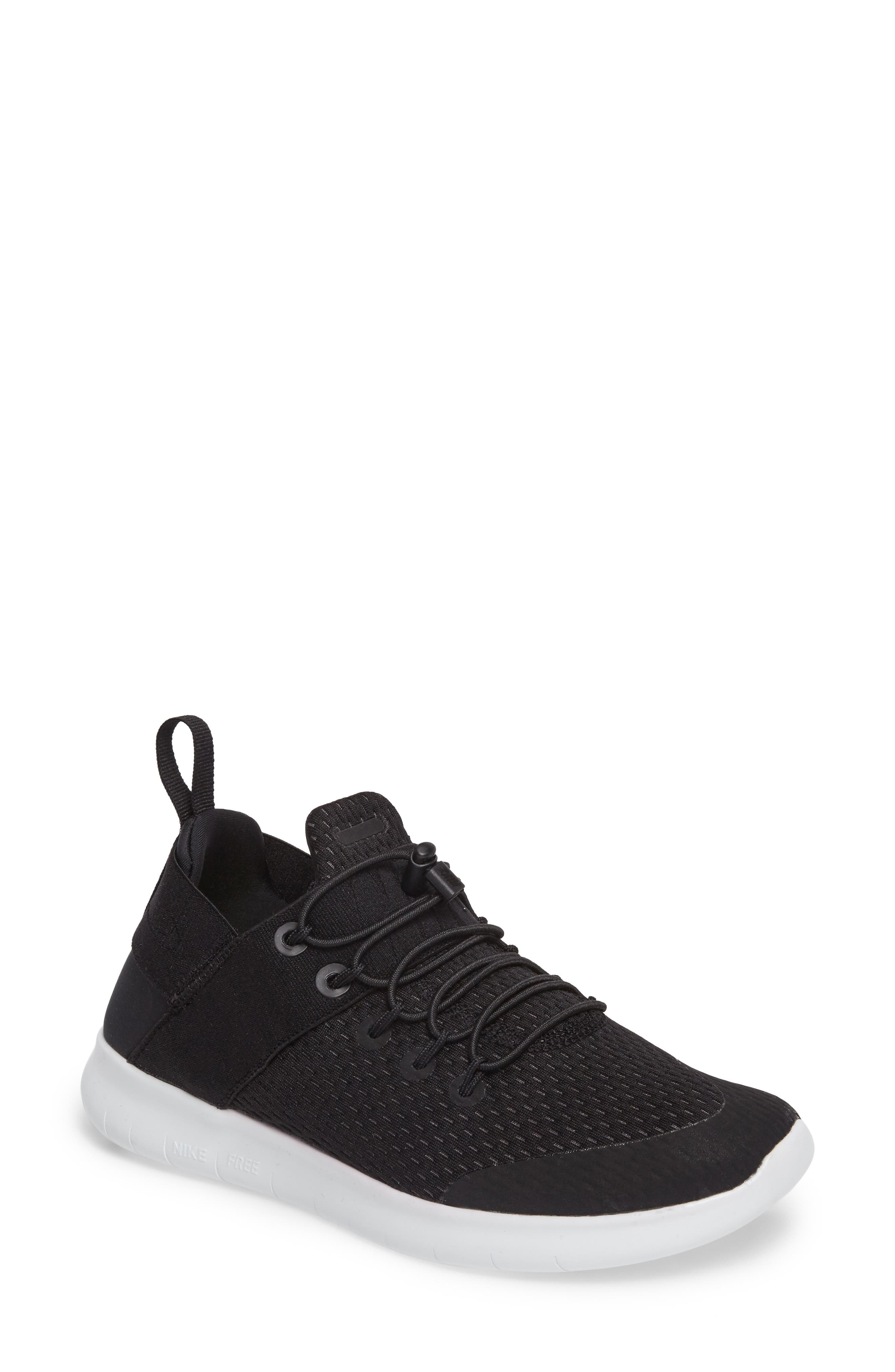 Free RN CMTR Running Shoe,                         Main,                         color, Black/ Anthracite/ Off White