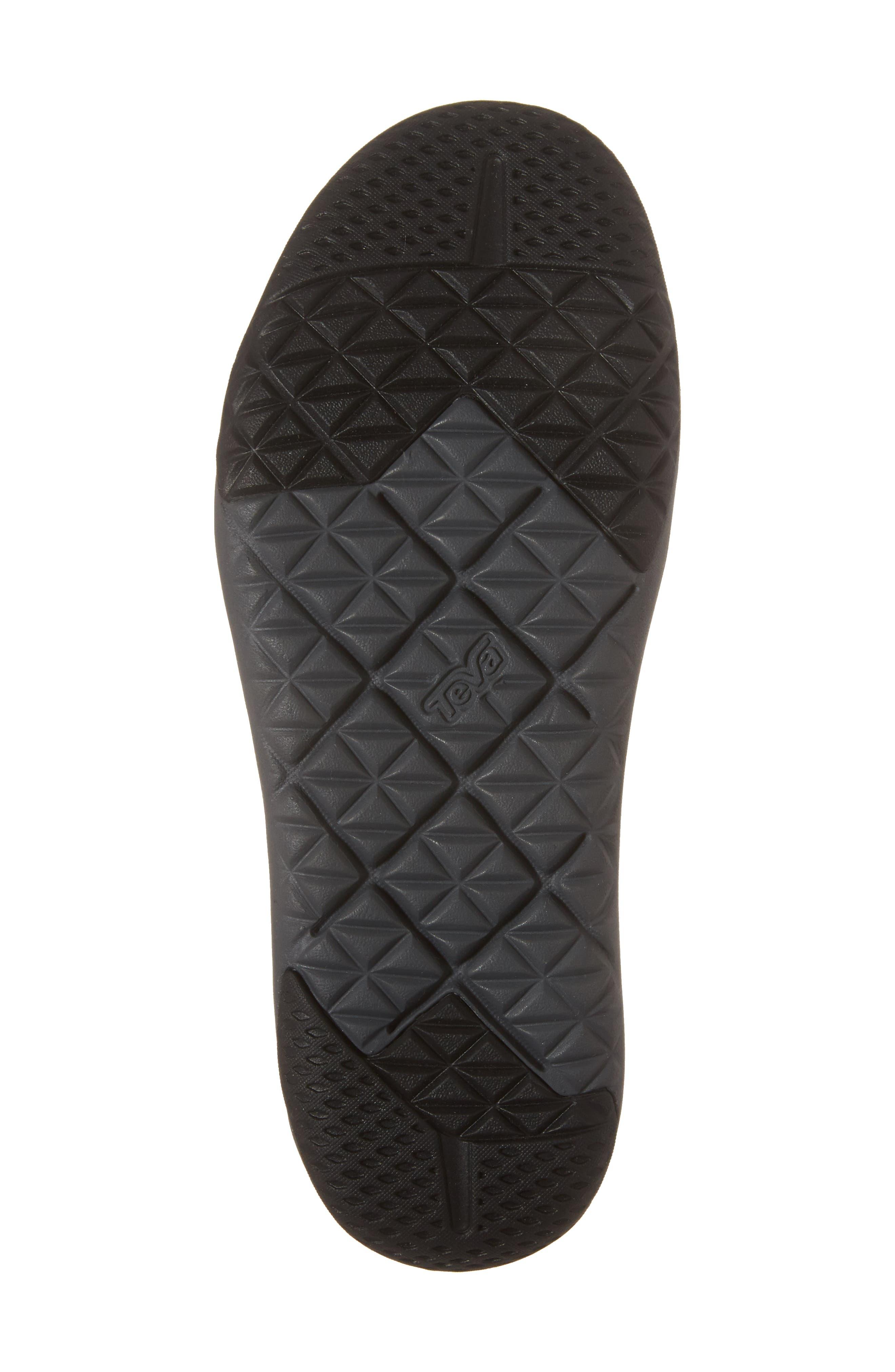 Terra Float Travel Sandal,                             Alternate thumbnail 6, color,                             Black Leather