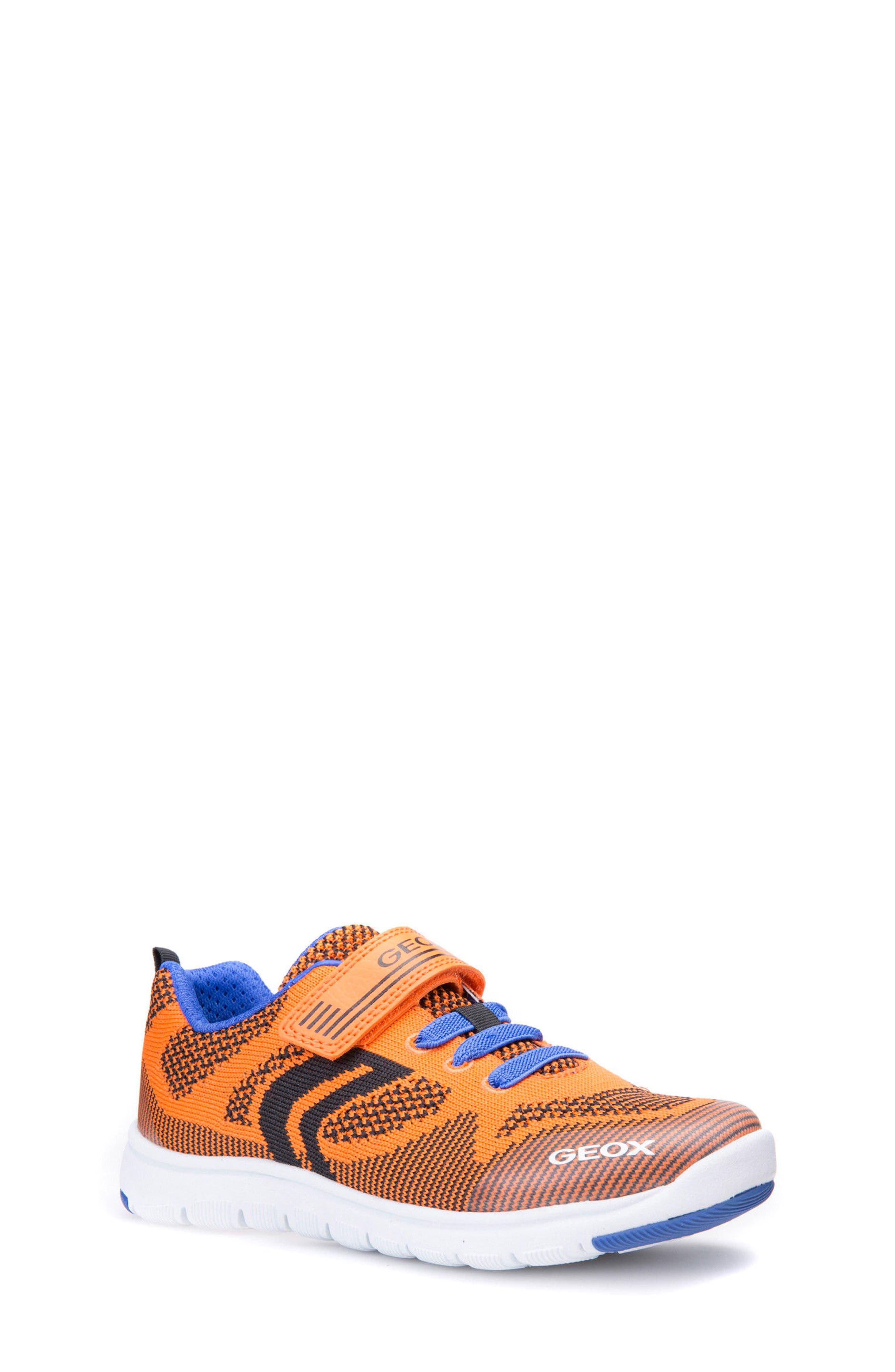 Xunday Low Top Woven Sneaker,                         Main,                         color, Orange/ Royal