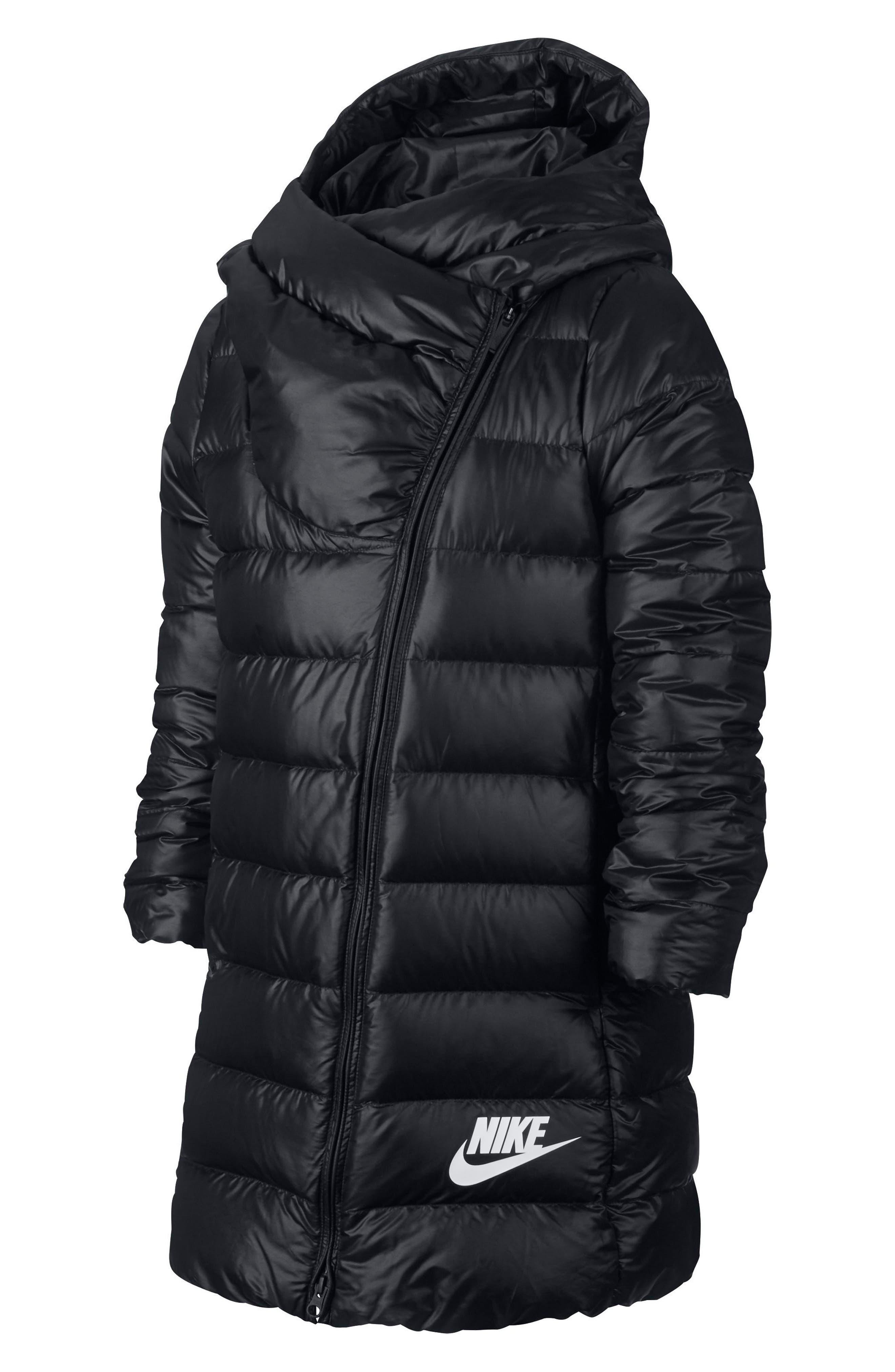 Nike Hooded Down Jacket (Big Girls)