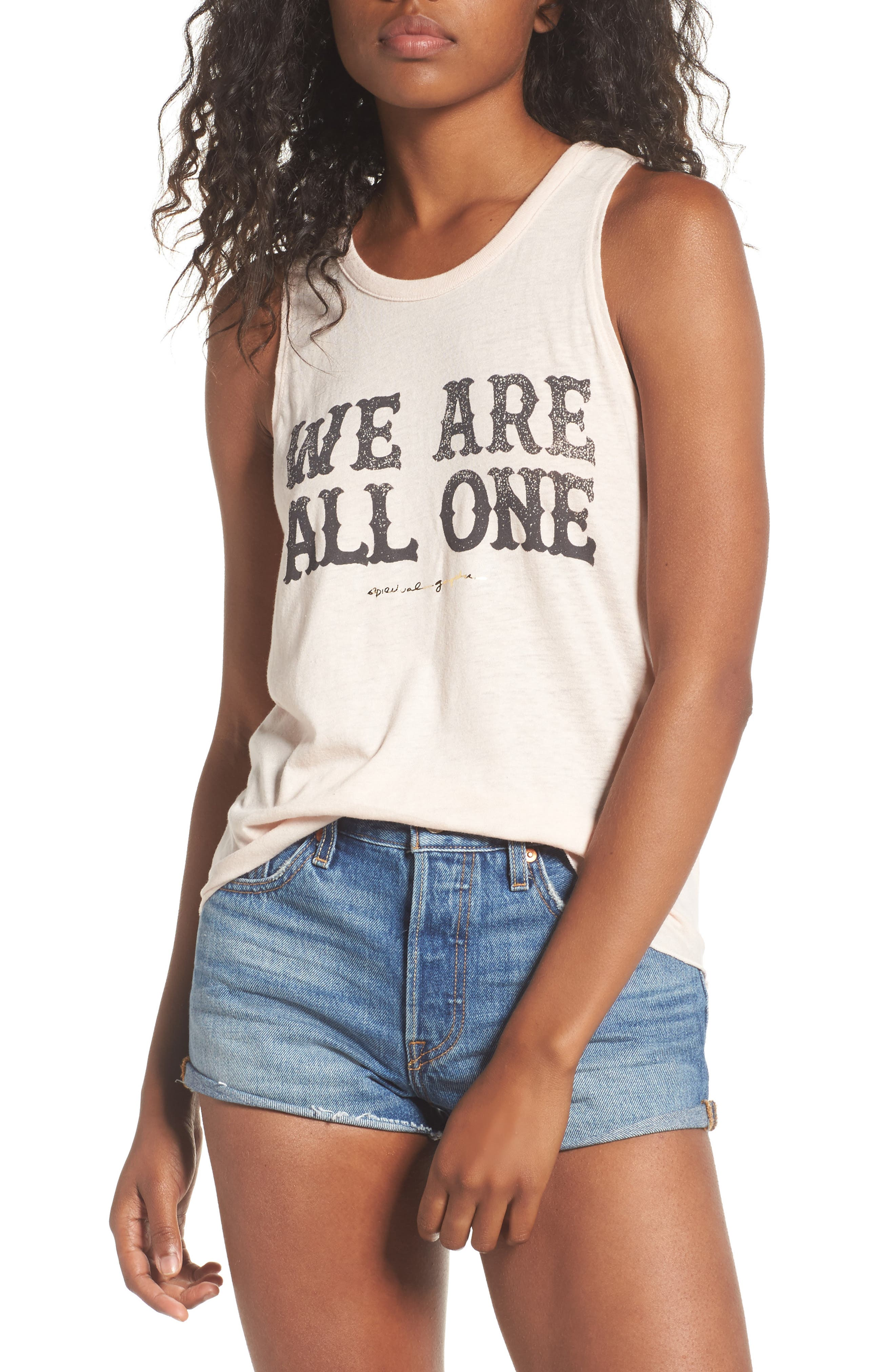 We Are One Studio Tank,                         Main,                         color, Sand