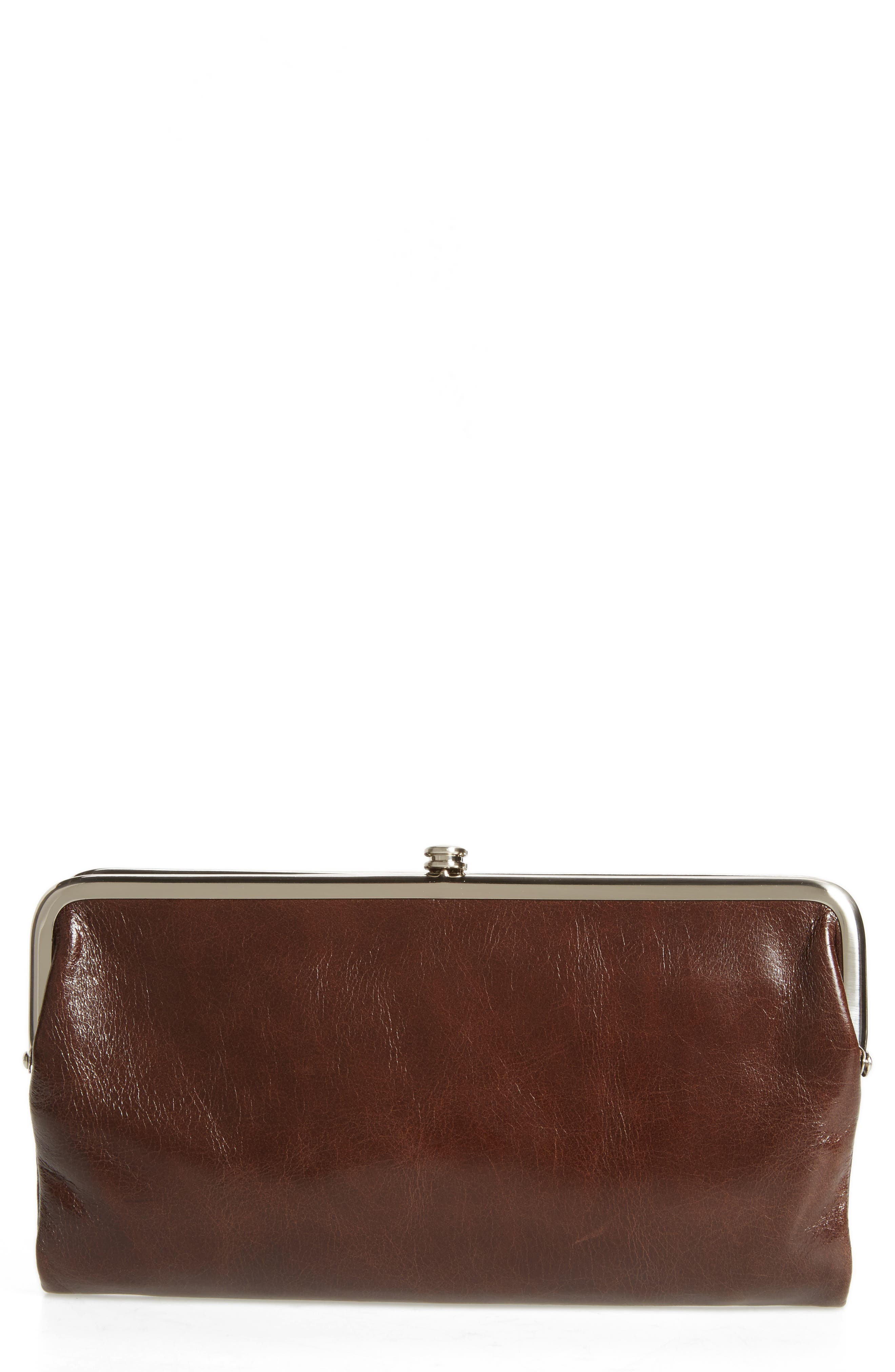 Hobo 'Lauren' Leather Double Frame Clutch