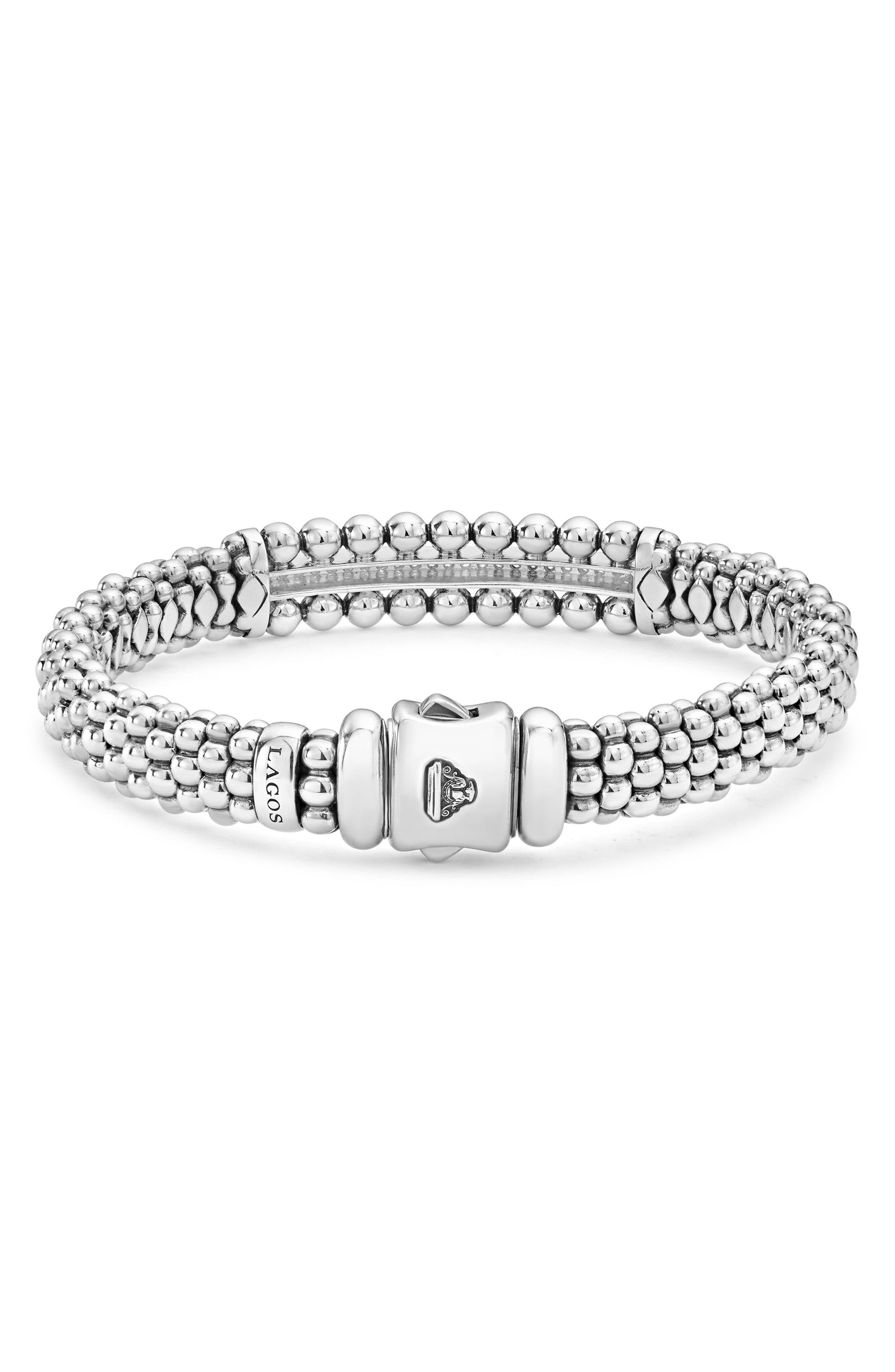Spark Diamond Station Bracelet,                             Alternate thumbnail 3, color,                             Diamond