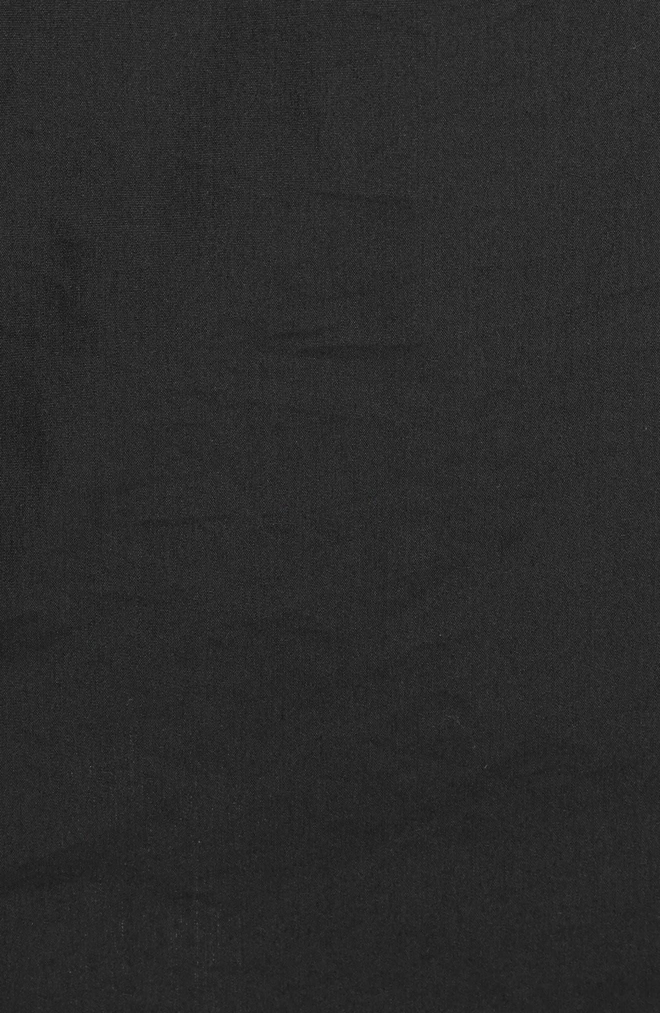 Cotton Poplin Wrap Dress,                             Alternate thumbnail 6, color,                             Black