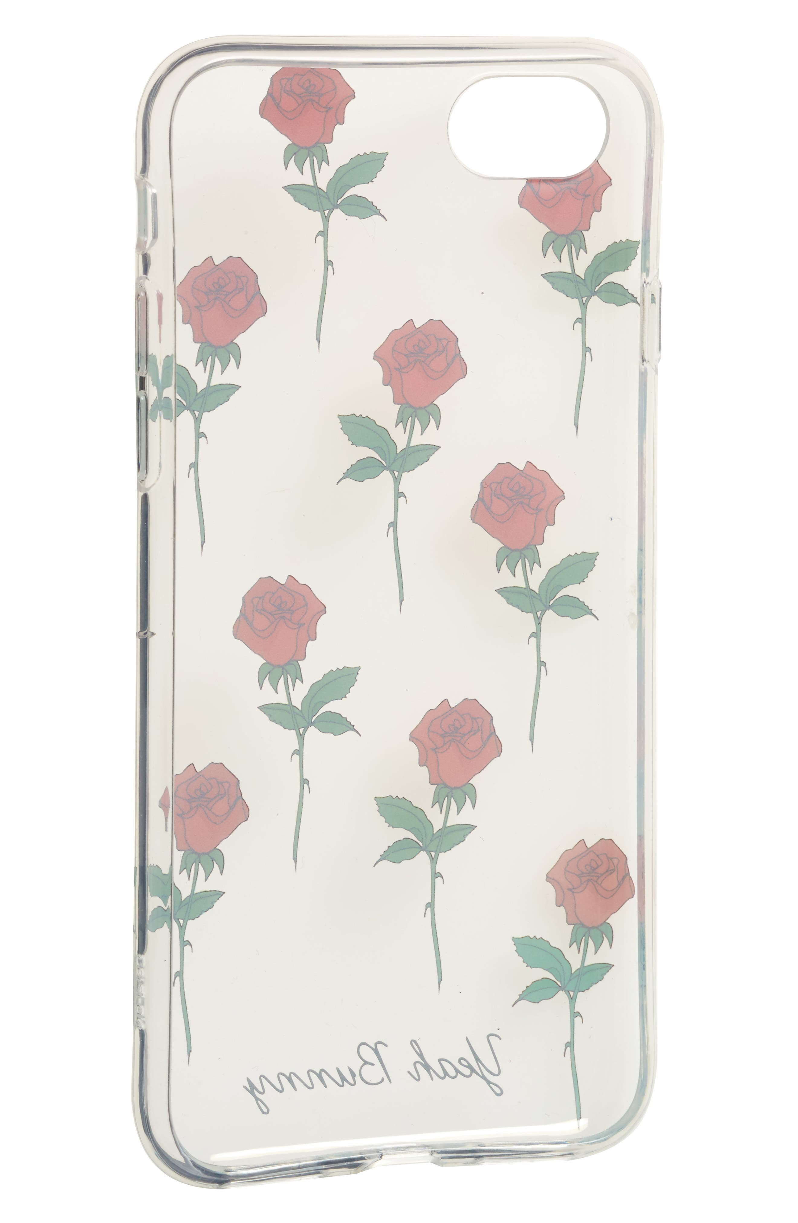 Alternate Image 2  - Yeah Bunny Red Roses iPhone 7 Case
