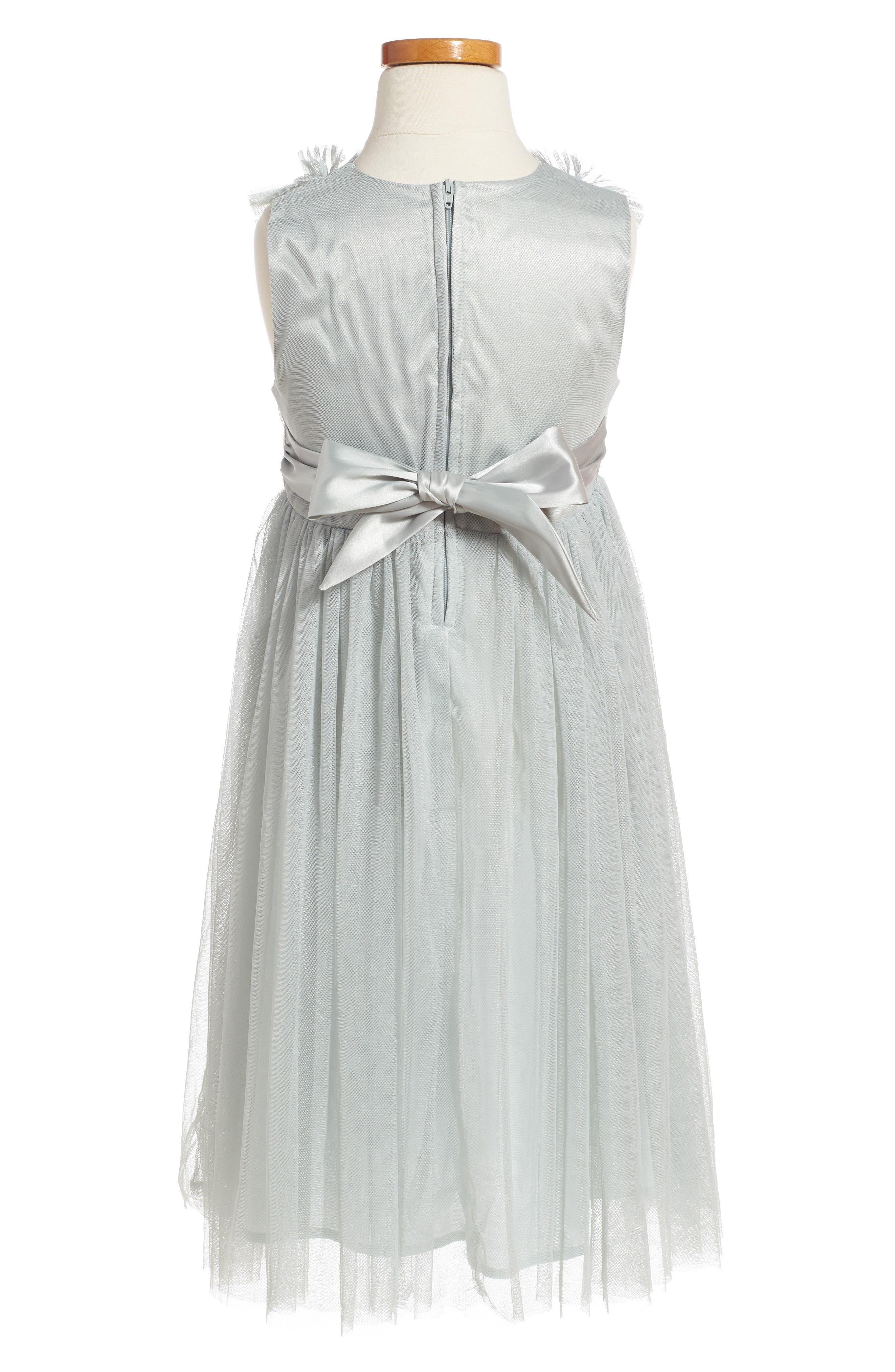 Alternate Image 2  - Popatu Sleeveless Tulle Dress (Toddler Girls, Little Girls & Big Girls)
