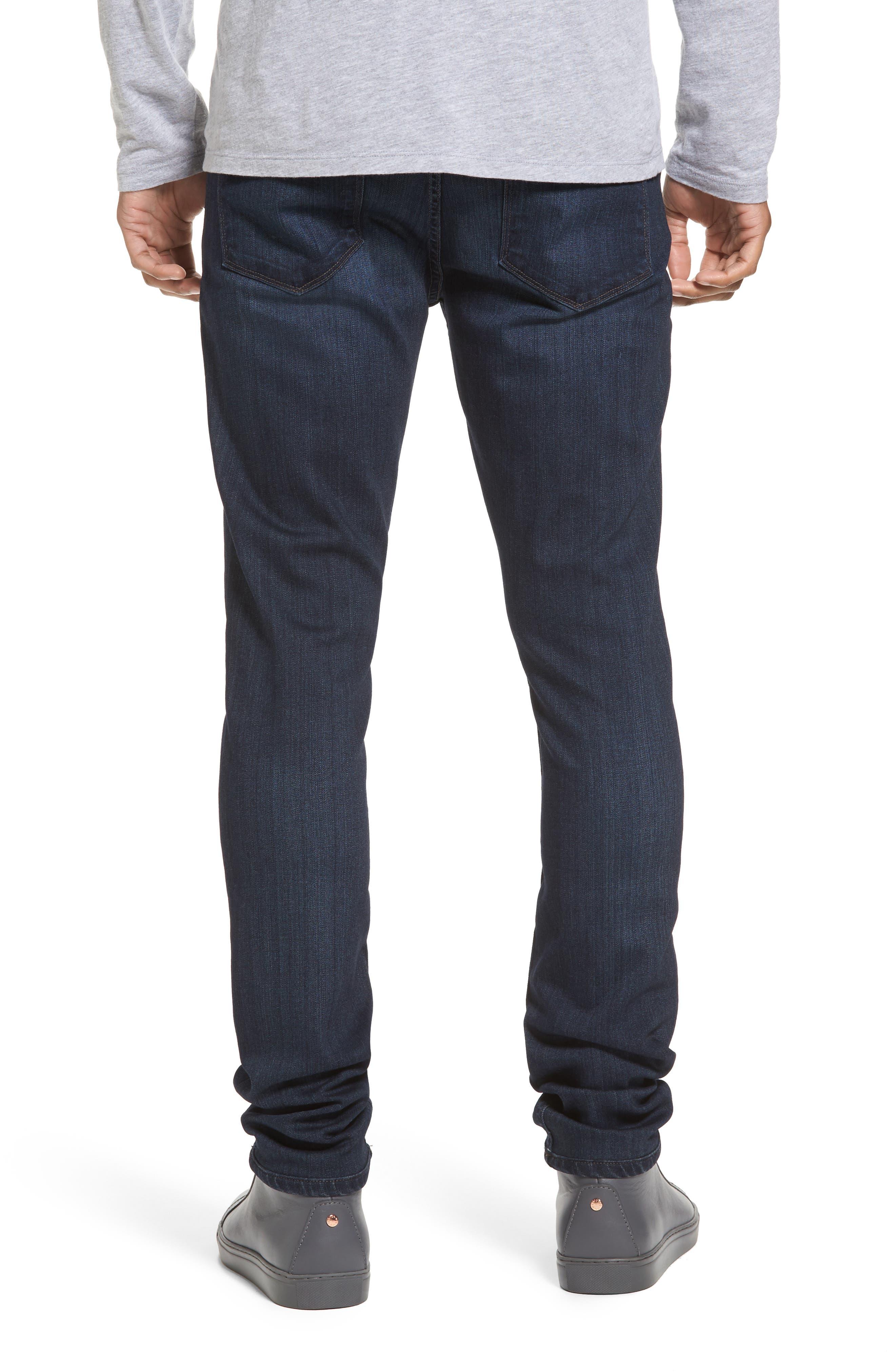 Transcend - Croft Skinny Fit Jeans,                             Alternate thumbnail 2, color,                             Barron