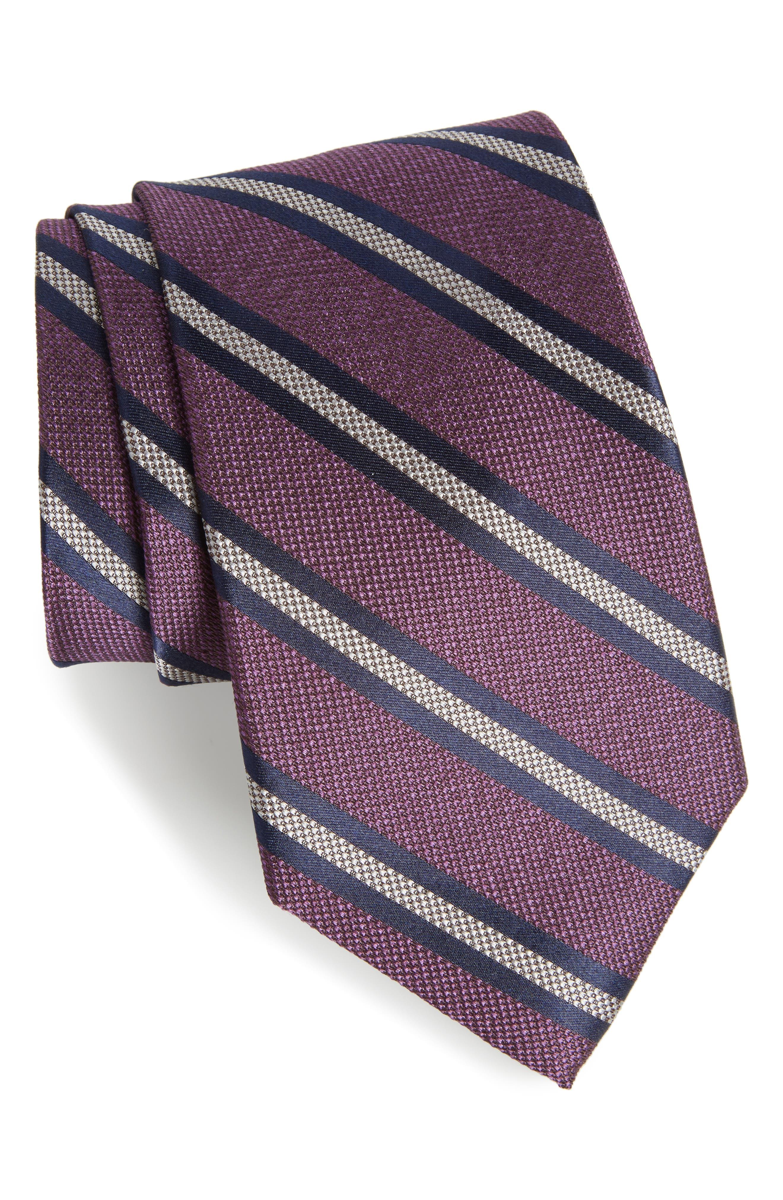 NORDSTROM MENS SHOP Oxford Stripe Silk Tie