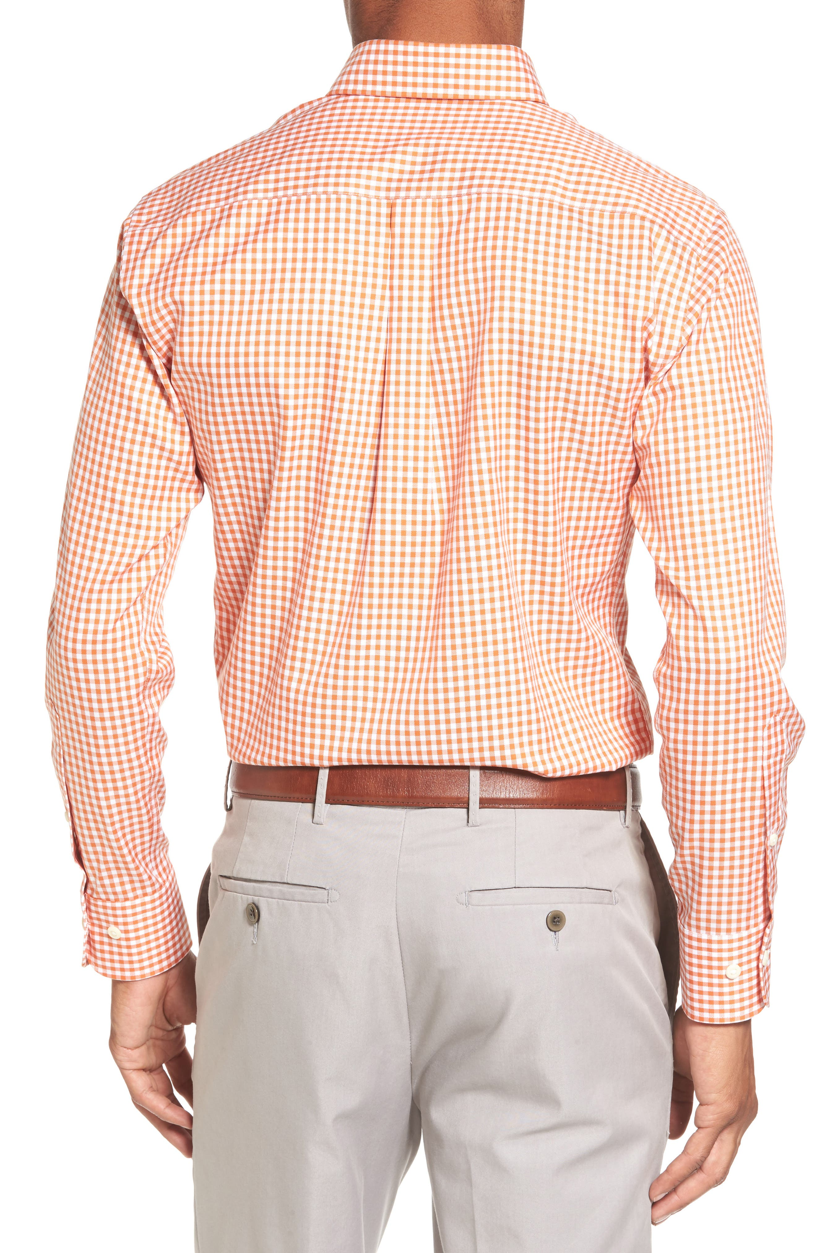 Texas Regular Fit Microcheck Sport Shirt,                             Alternate thumbnail 2, color,                             Rust
