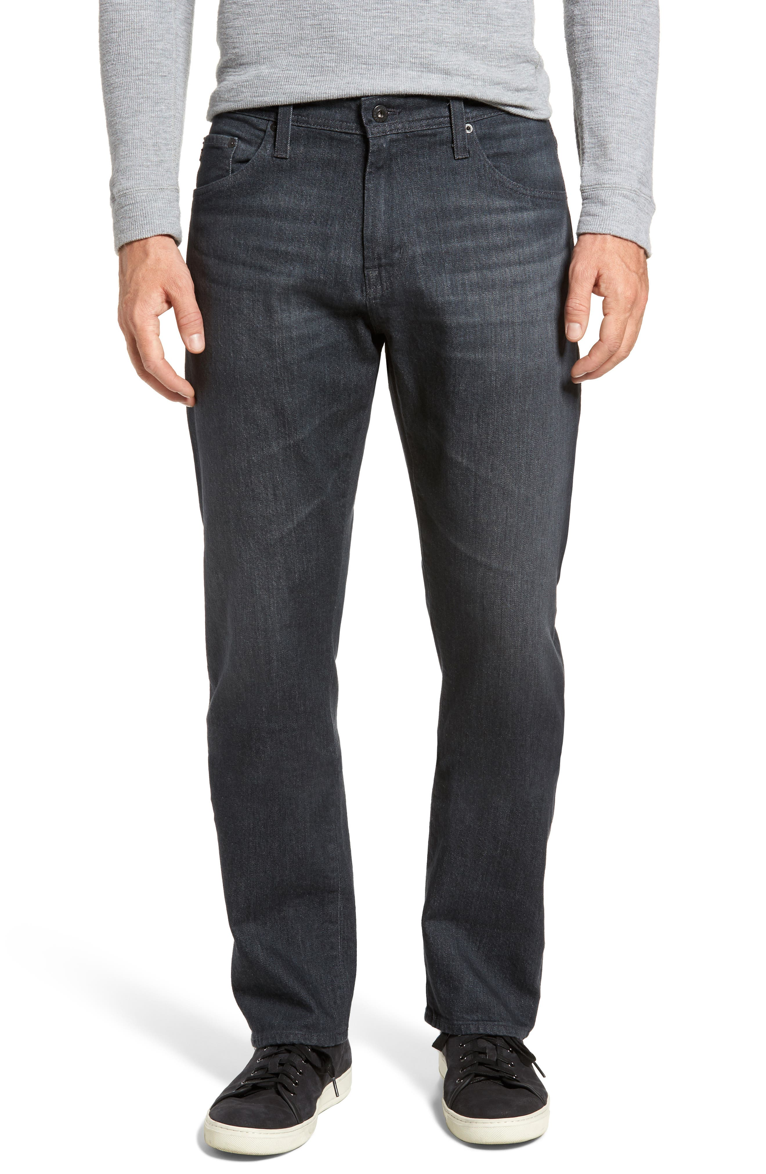 Ives Straight Fit Jeans,                         Main,                         color, Tempo