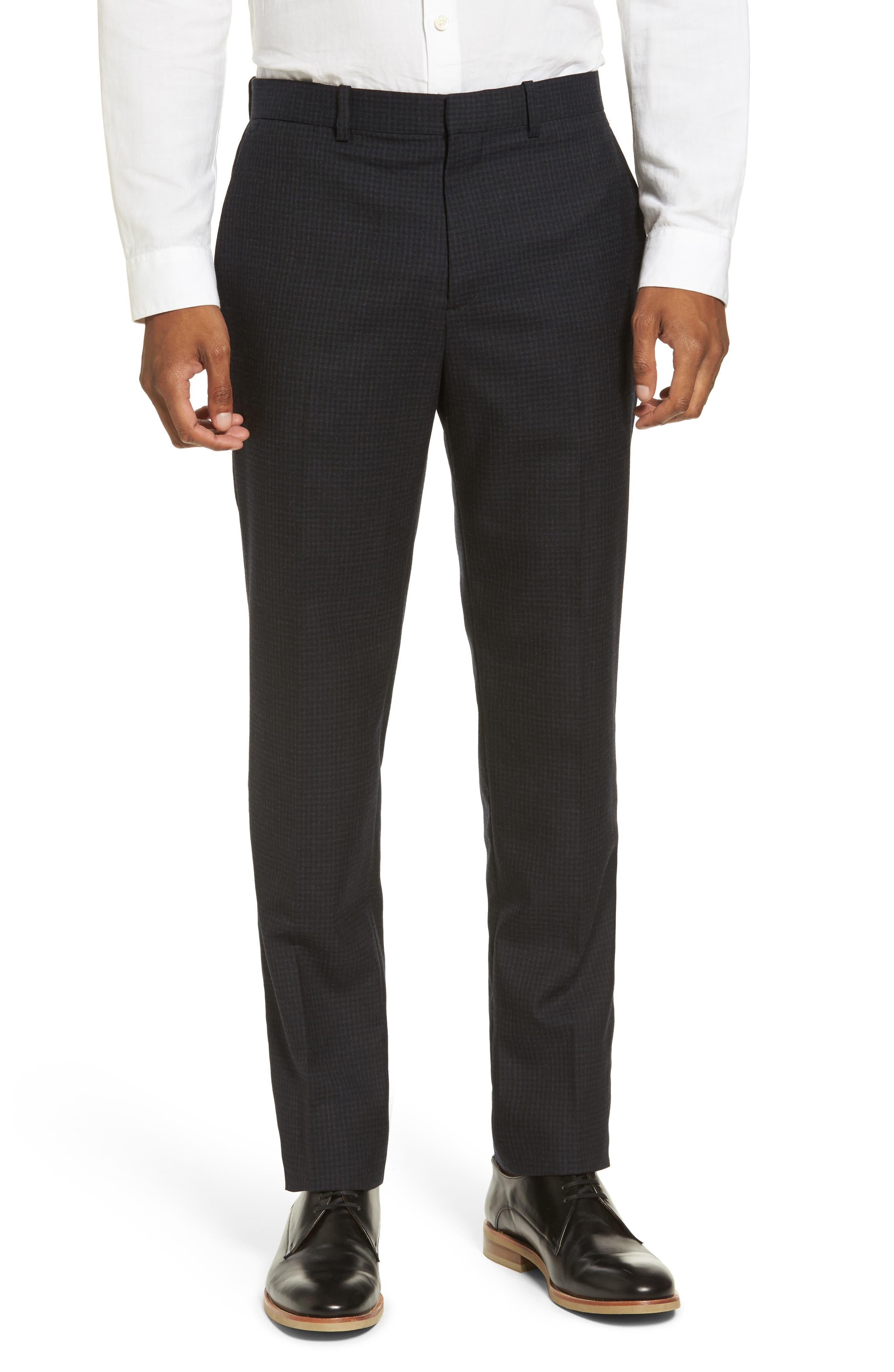 Jake Slim Fit Wool Flannel Pants,                         Main,                         color, Eclipse Multi