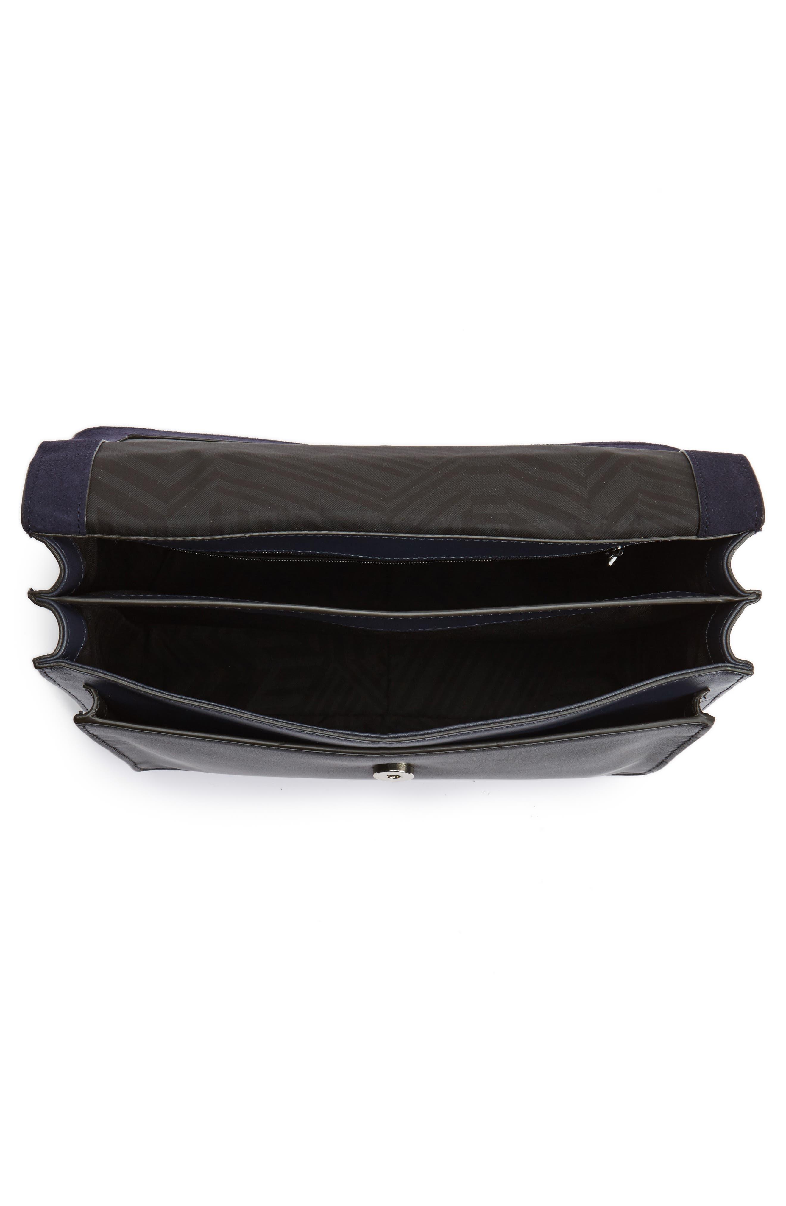 Top Handle Shoulder Bag,                             Alternate thumbnail 4, color,                             Black