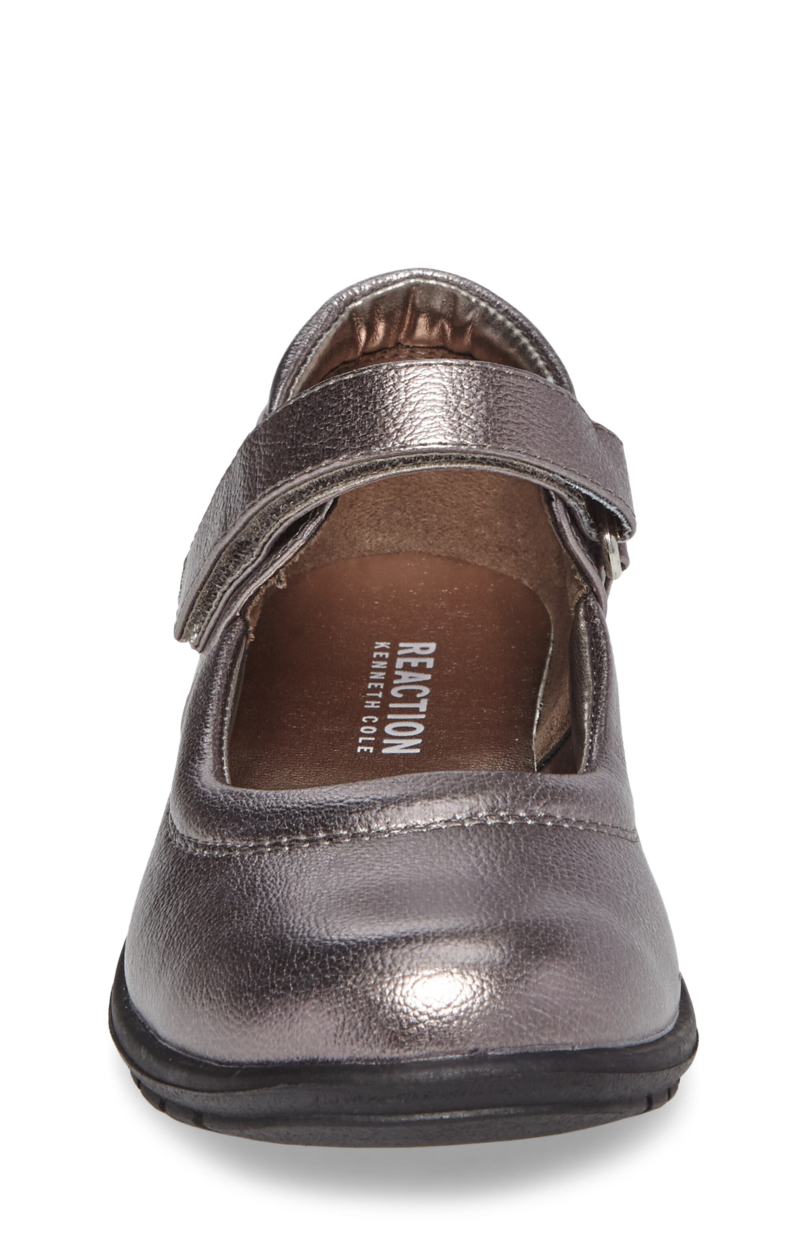 Dolly School Mary Jane,                             Alternate thumbnail 4, color,                             Pewter Faux Leather