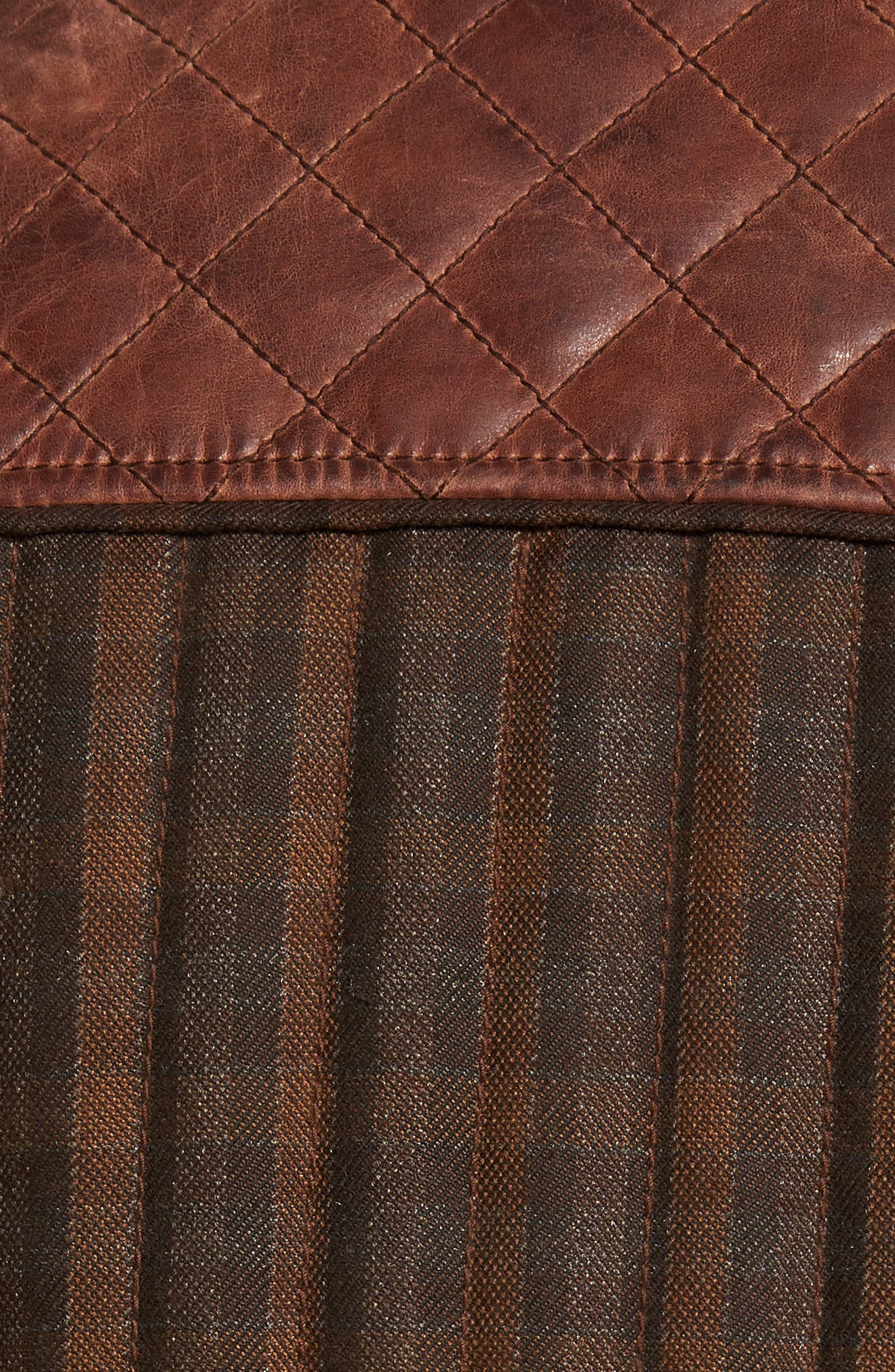Quilted Leather Vest,                             Alternate thumbnail 5, color,                             Brown