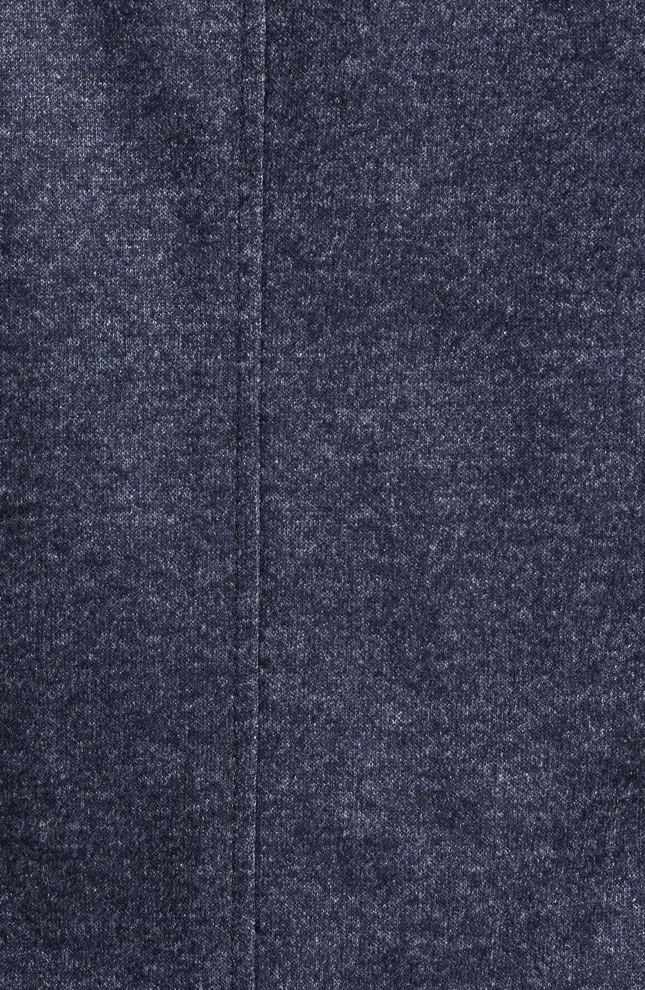 Classic Fit Suede Trim Jersey Sport Coat,                             Alternate thumbnail 5, color,                             Navy