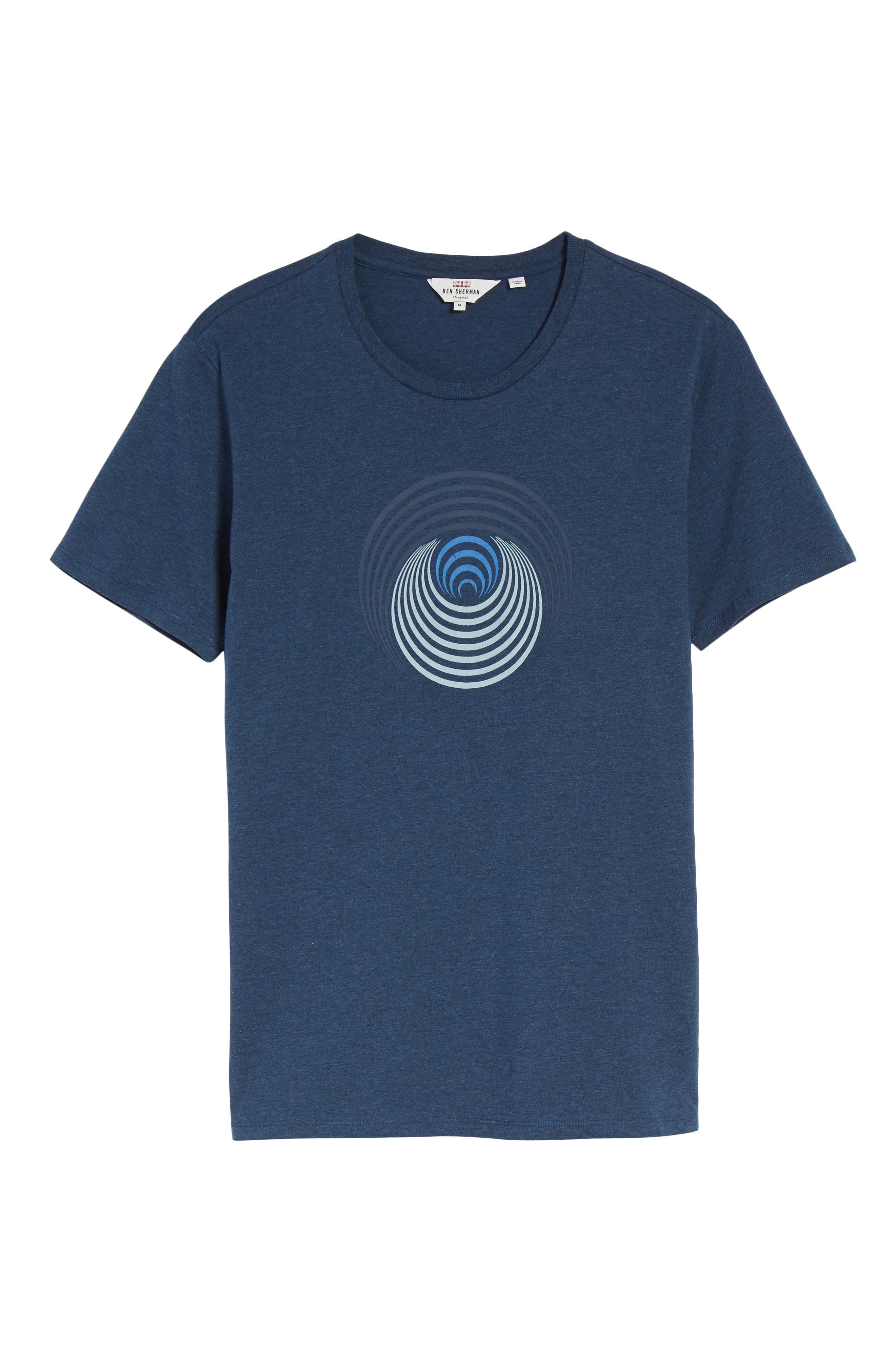 Optical Target T-Shirt,                             Alternate thumbnail 6, color,                             Blue