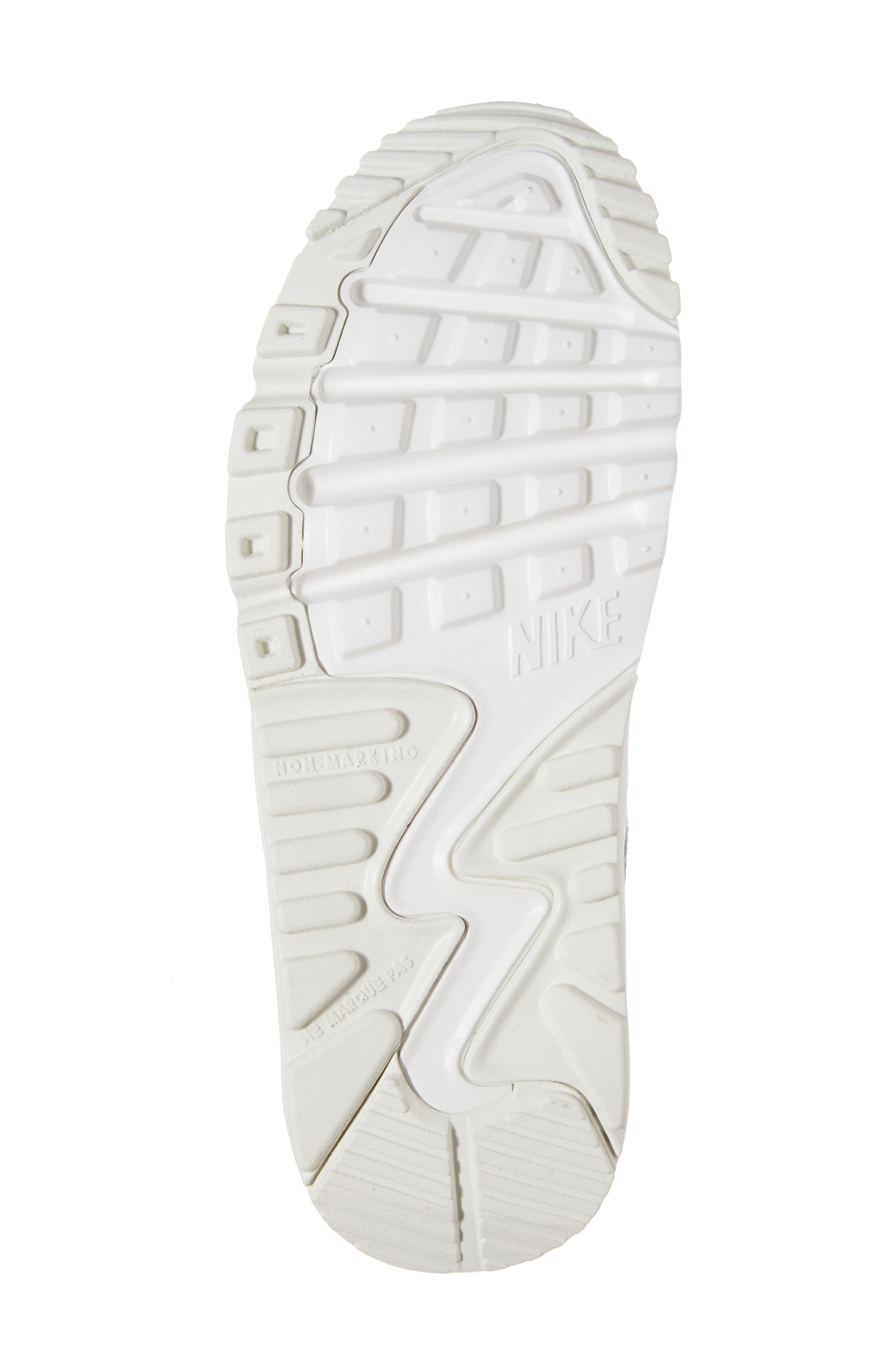 Alternate Image 6  - Nike Air Max 90 Leather Sneaker (Big Kid)