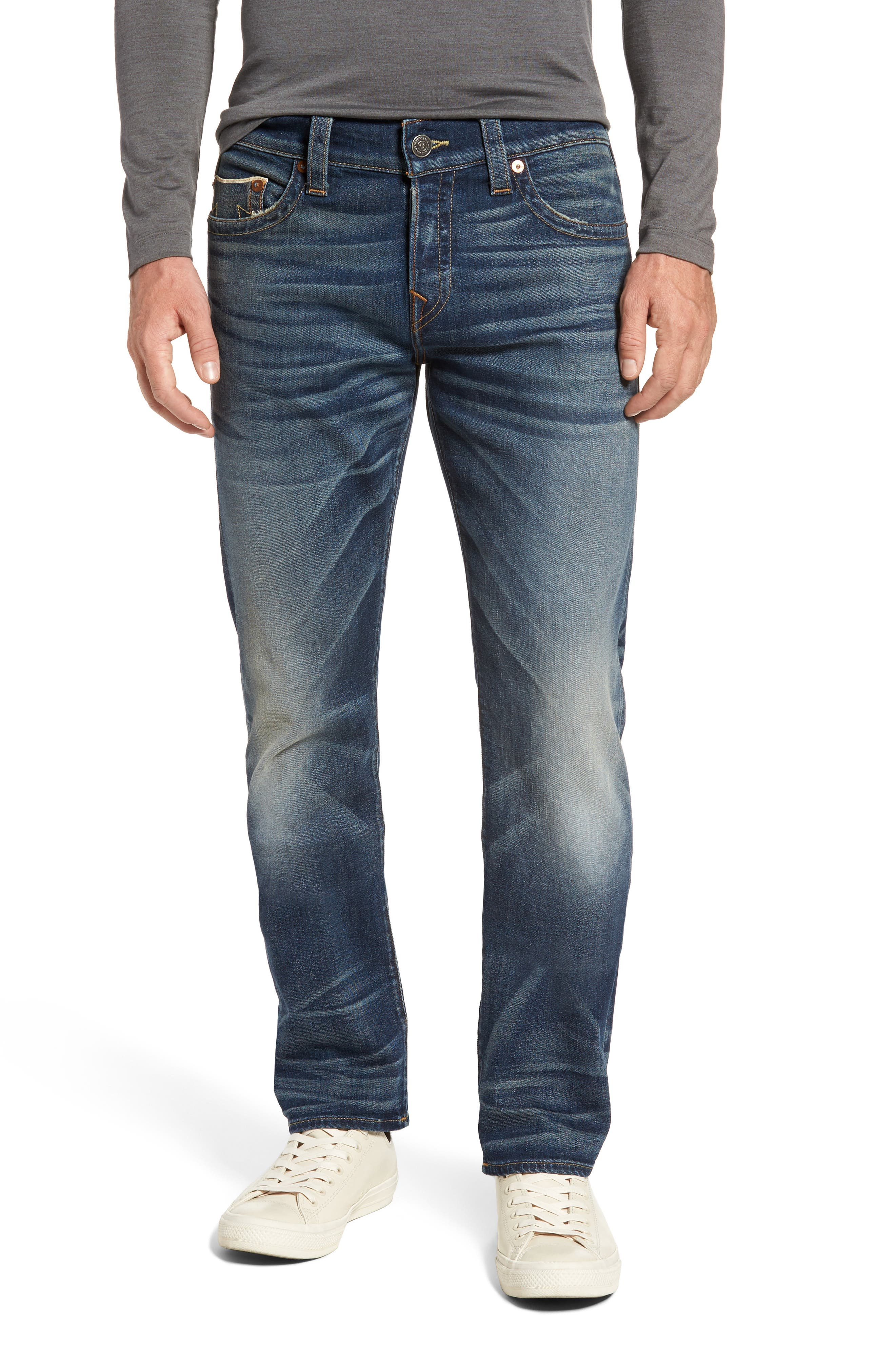 True Religion Brand Jeans Geno Straight Leg Jeans (Blue Legend)