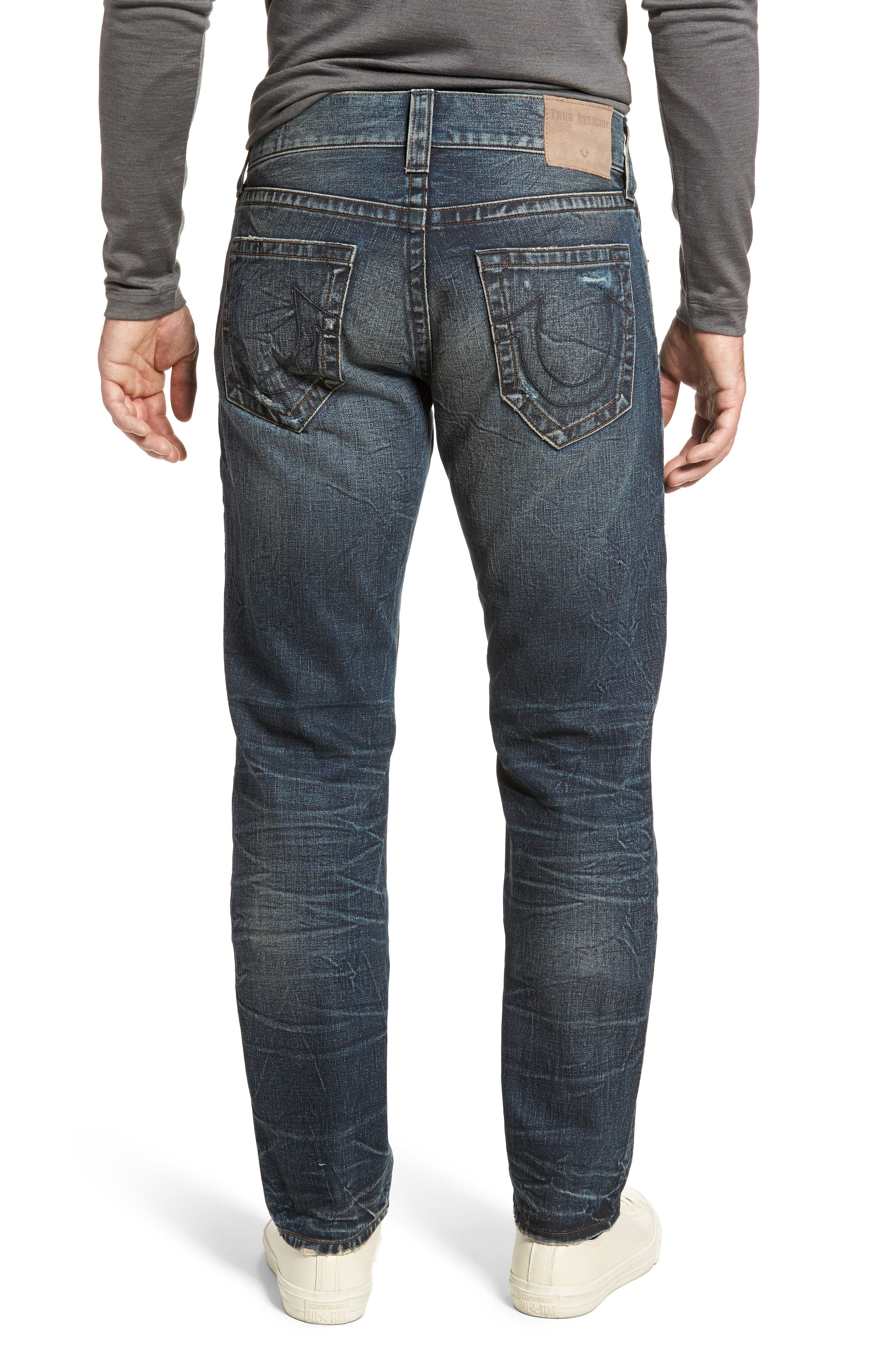 Geno Straight Fit Jeans,                             Alternate thumbnail 2, color,                             Patched Rider