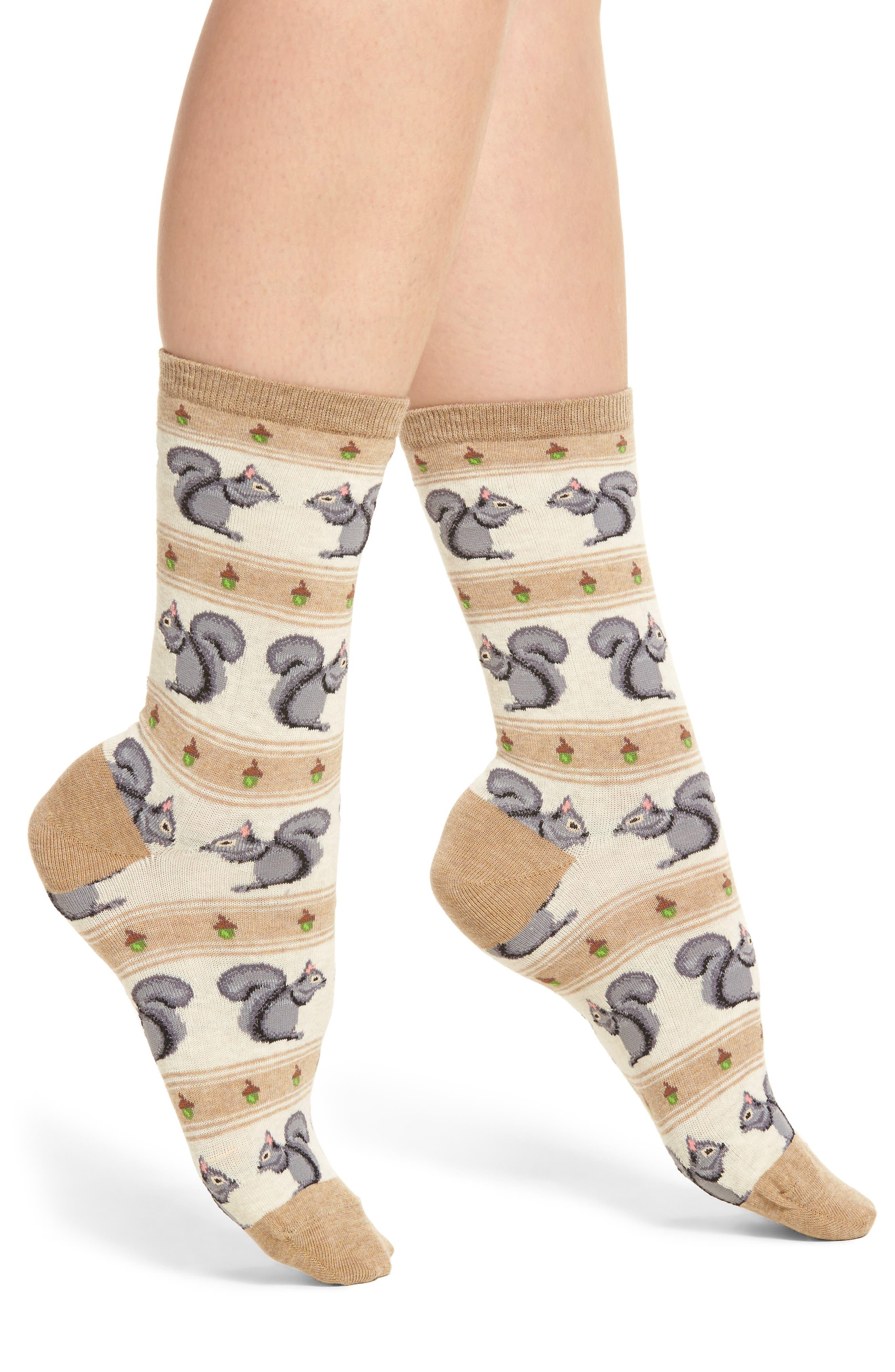Hot Sox Squirrels Socks (3 for $15)
