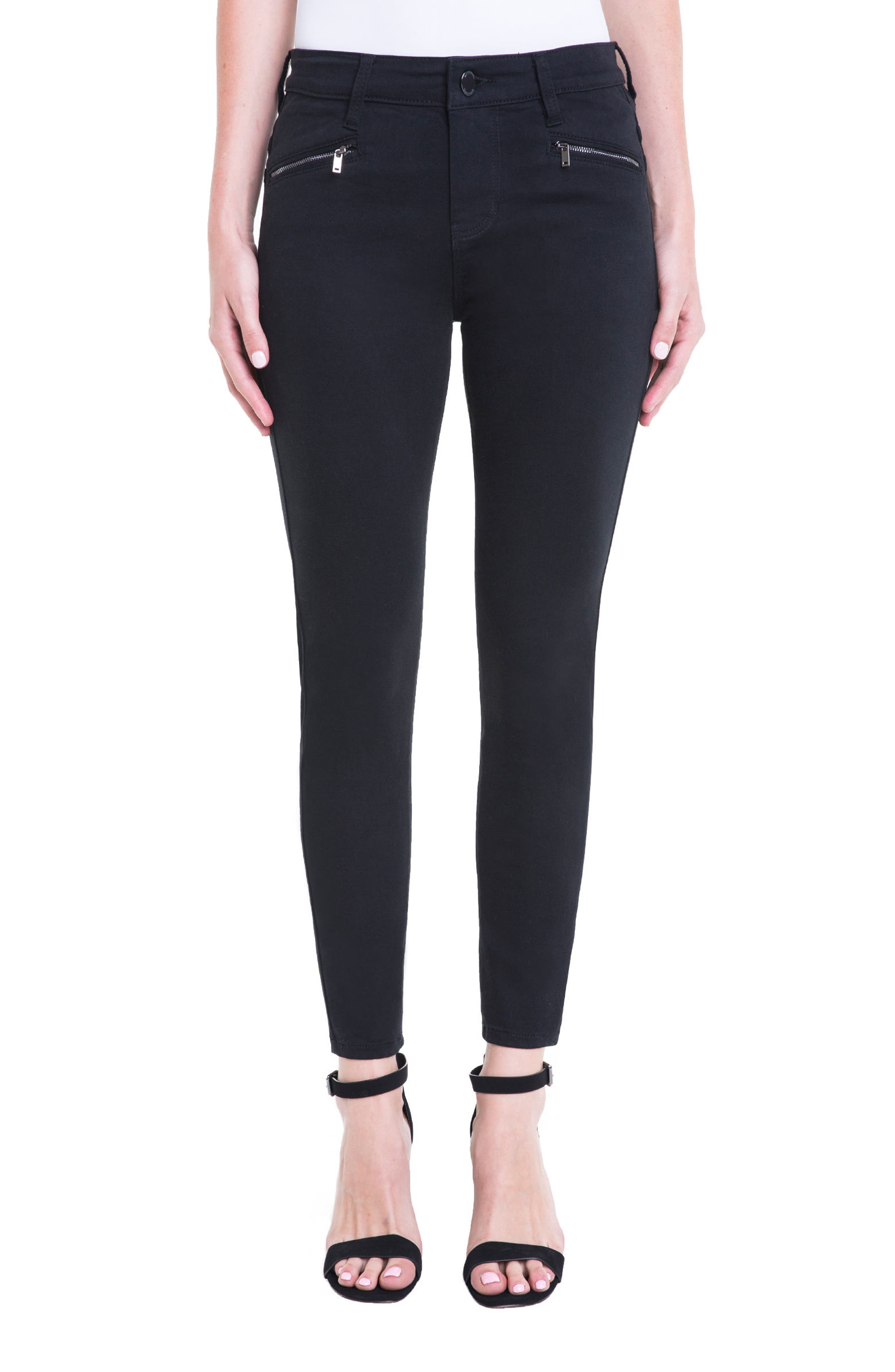 Main Image - Liverpool Jeans Company Remy Zipper Stretch Skinny Jeans