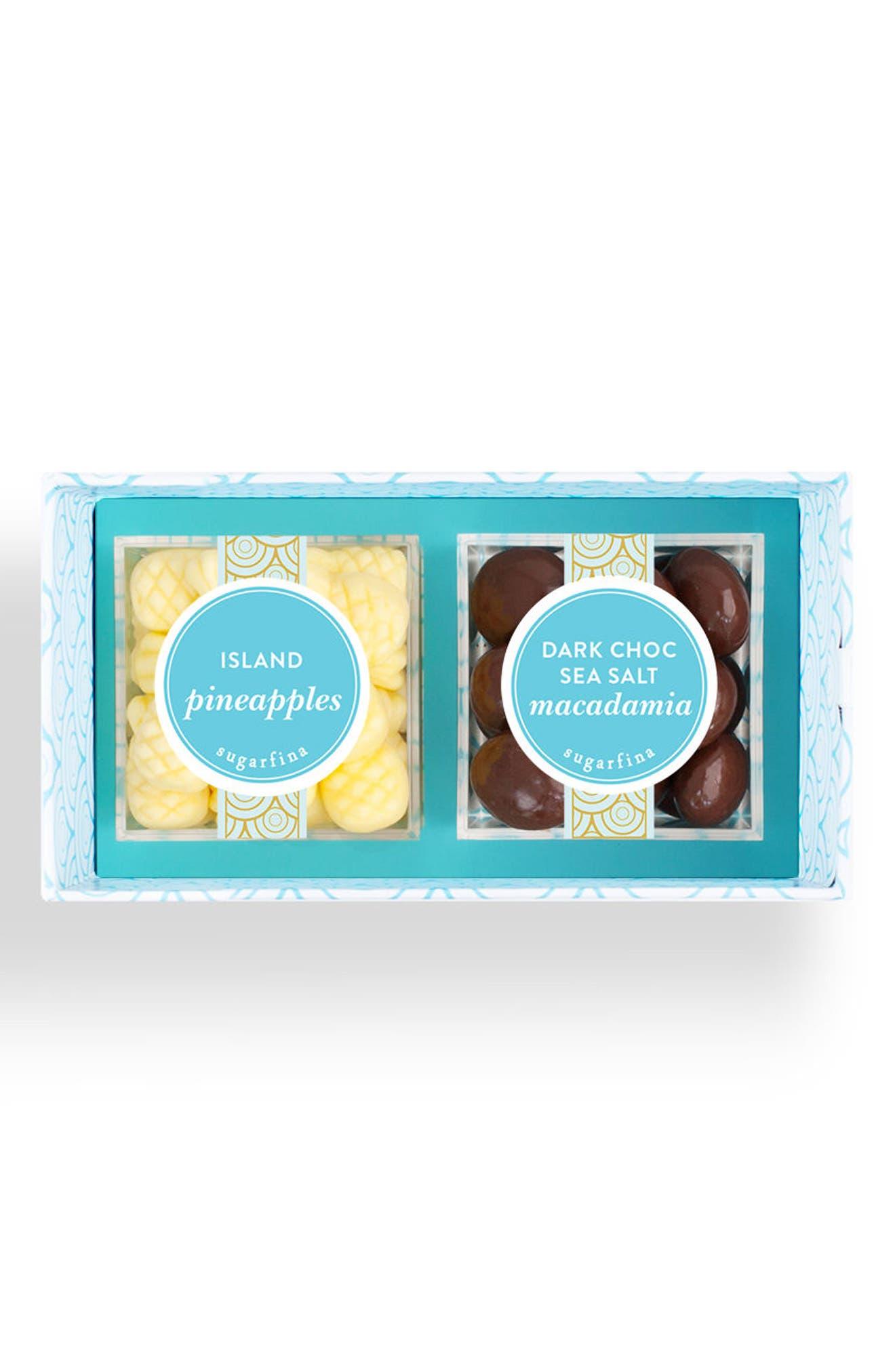 Aloha 2-Piece Candy Bento Box,                         Main,                         color, Blue