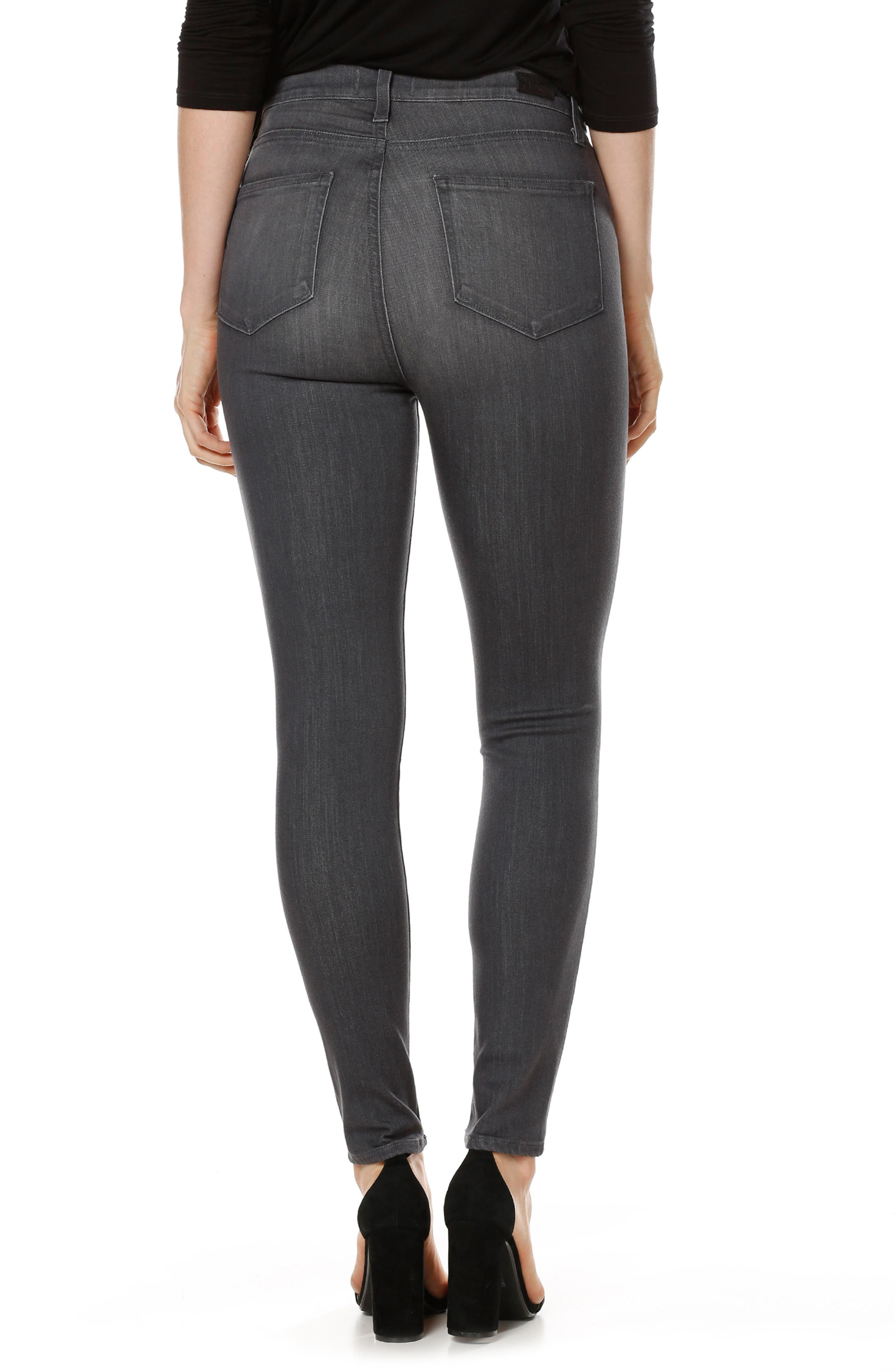 Transcend - Margot High Waist Ankle Ultra Skinny Jeans,                             Alternate thumbnail 2, color,                             Summit Grey