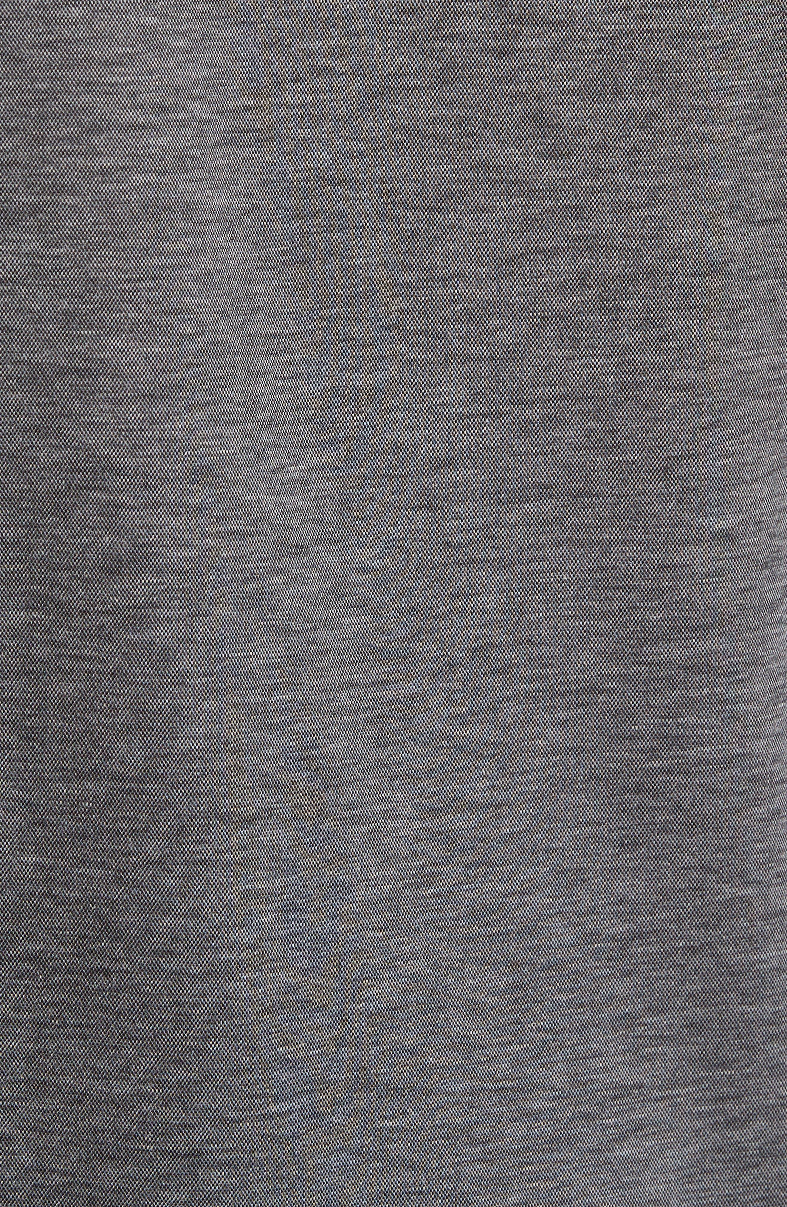 T-Morrison Slim Fit Long Sleeve Polo,                             Alternate thumbnail 5, color,                             Black
