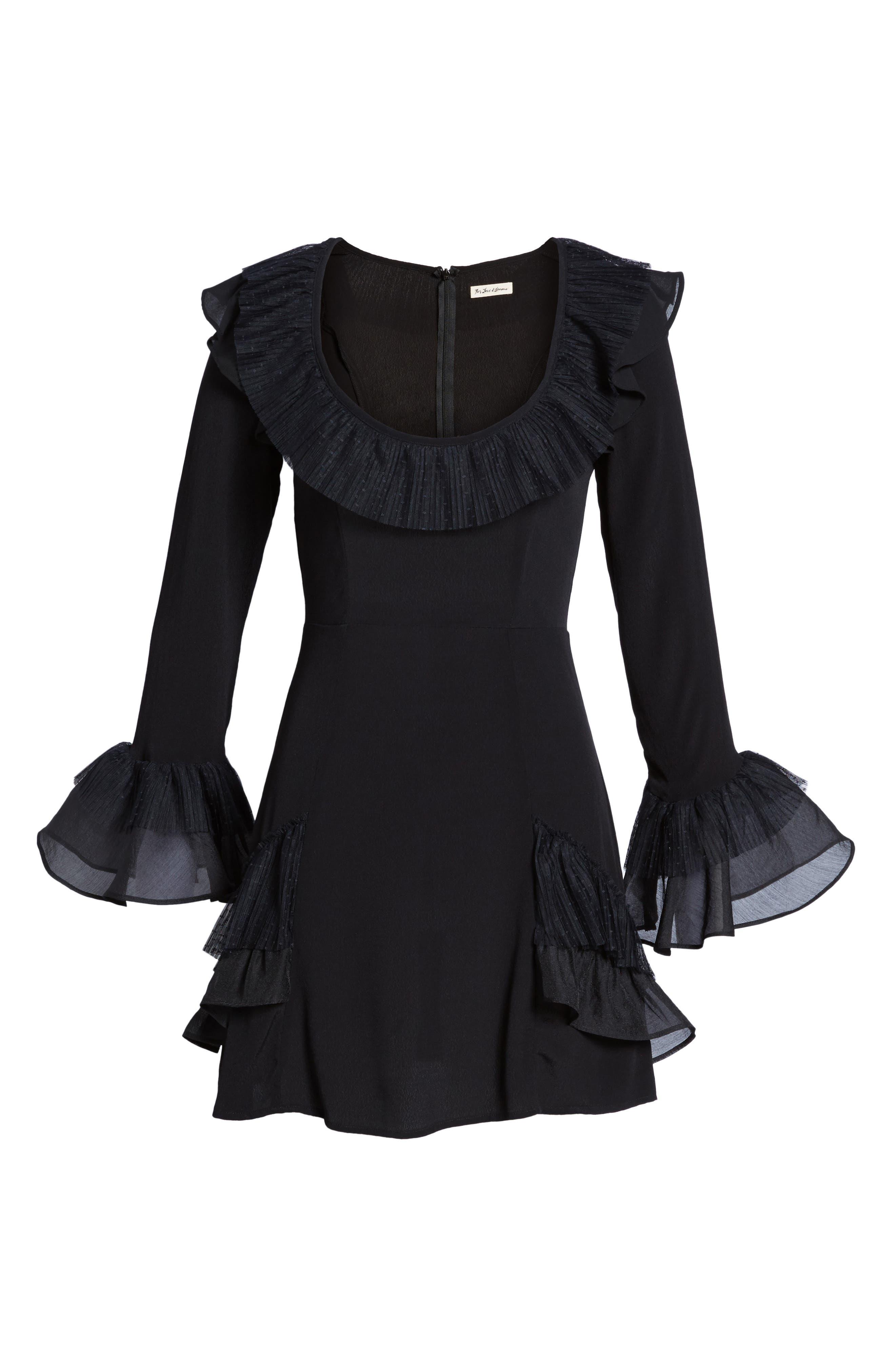 Evie Minidress,                             Alternate thumbnail 6, color,                             Black