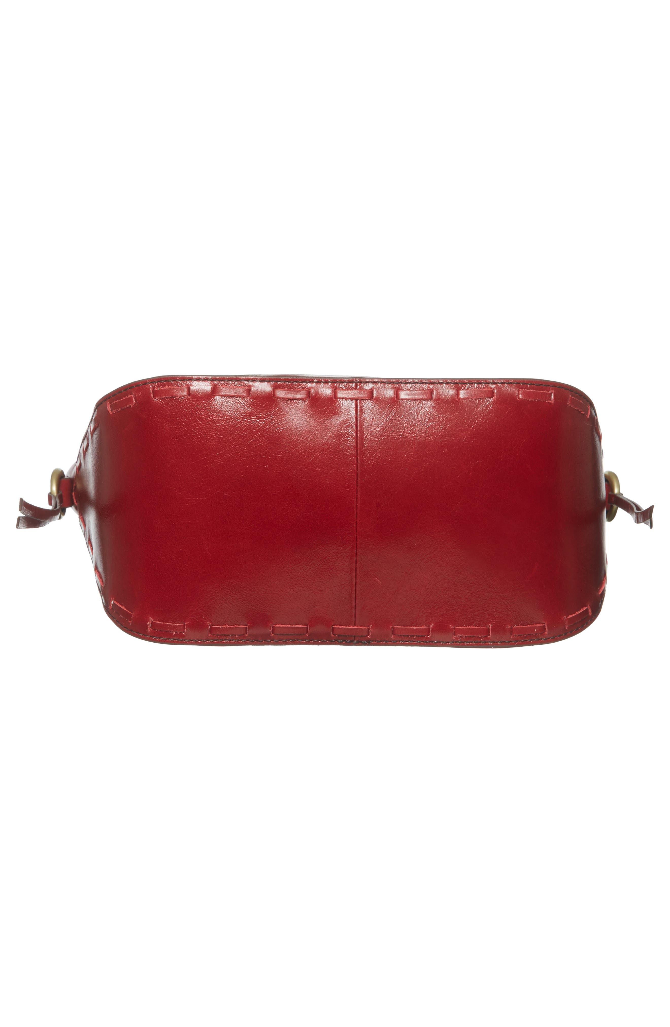 Muse Calfskin Leather Crossbody Bag,                             Alternate thumbnail 6, color,                             Cardinal