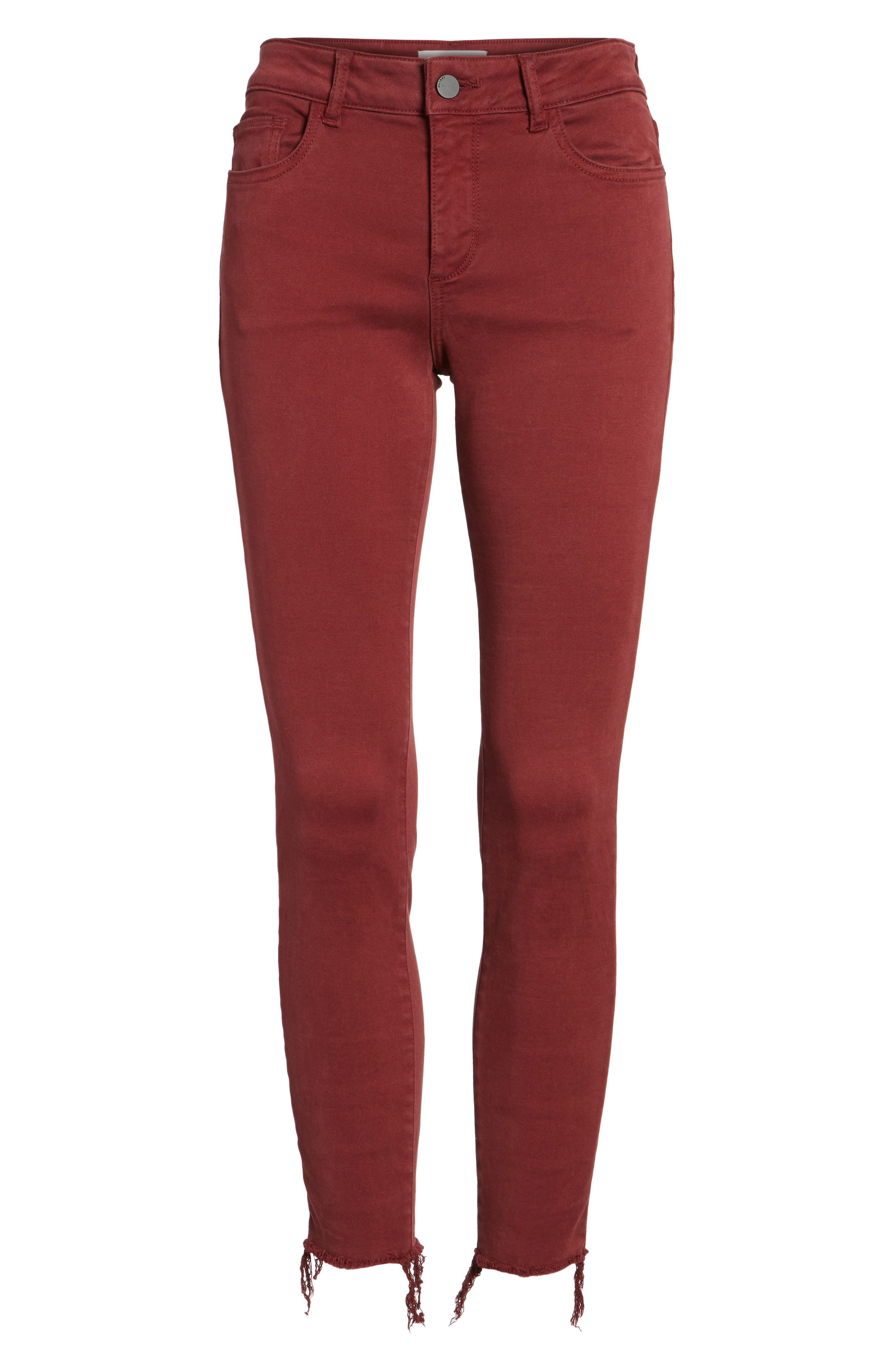 Margaux Instasculpt Ankle Skinny Jeans,                             Alternate thumbnail 6, color,                             Tawny Port