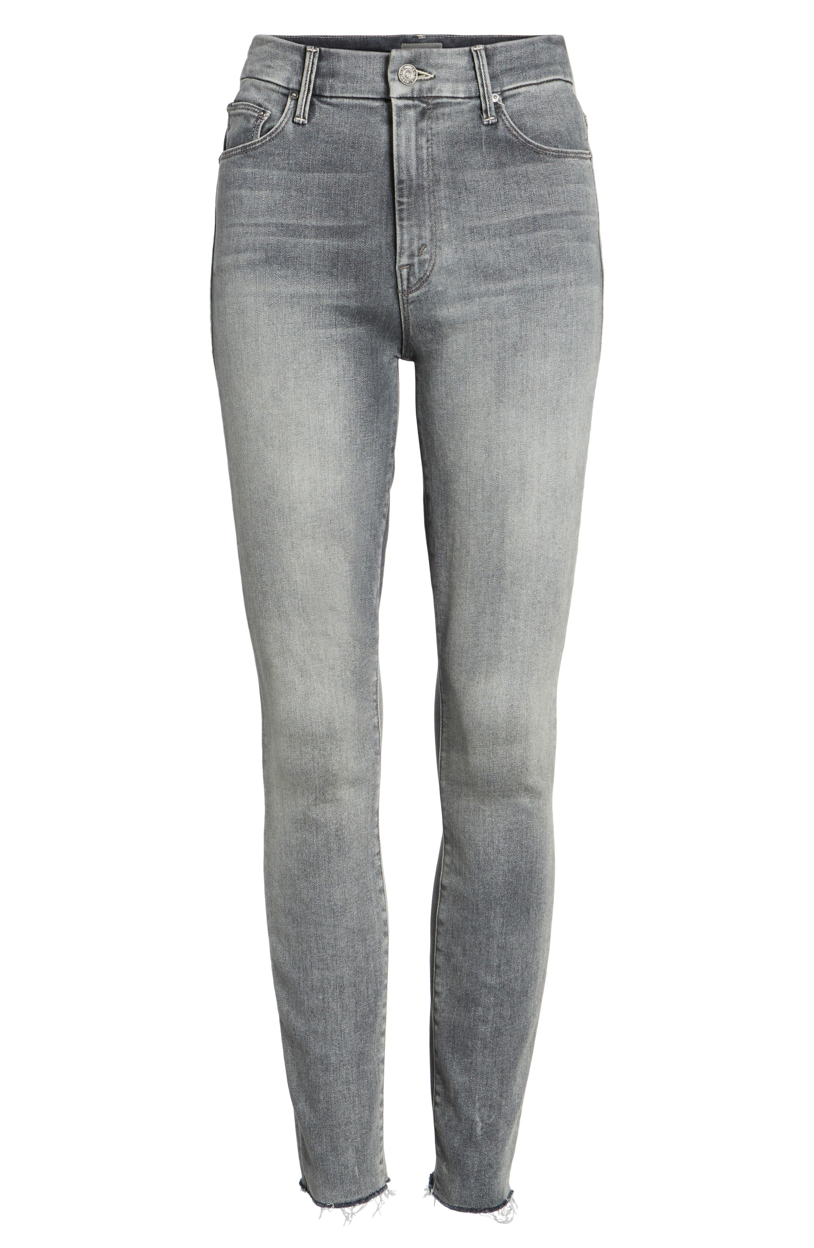 Alternate Image 6  - MOTHER The Looker Frayed Ankle Skinny Jeans (Huntress)