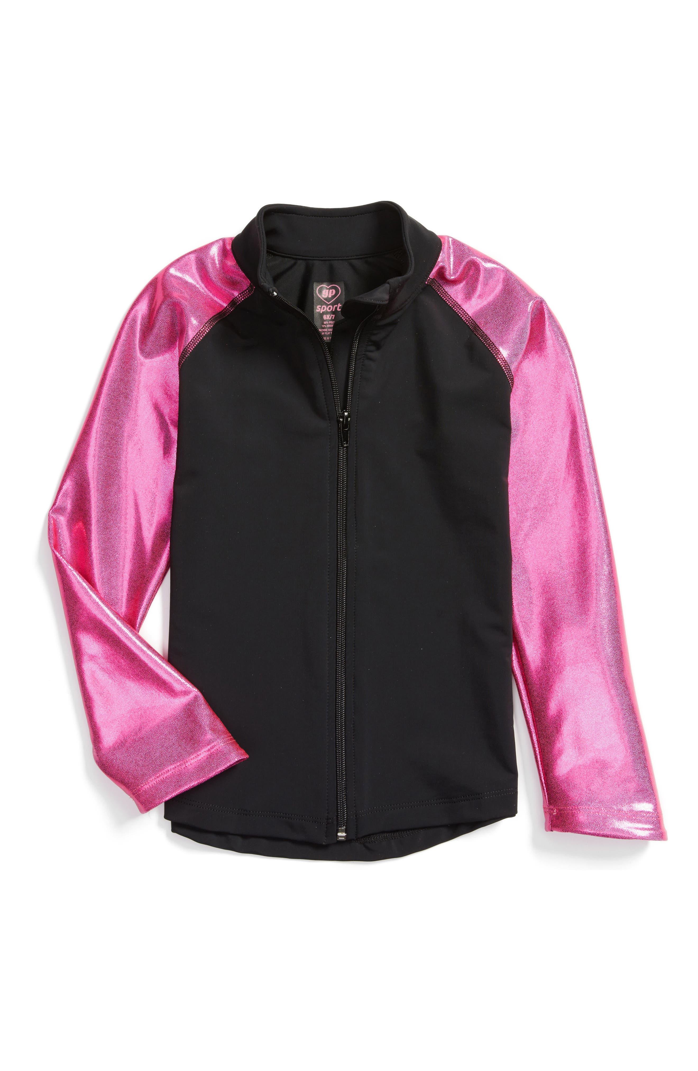 Metallic Favorite Jacket,                             Main thumbnail 1, color,                             Pink