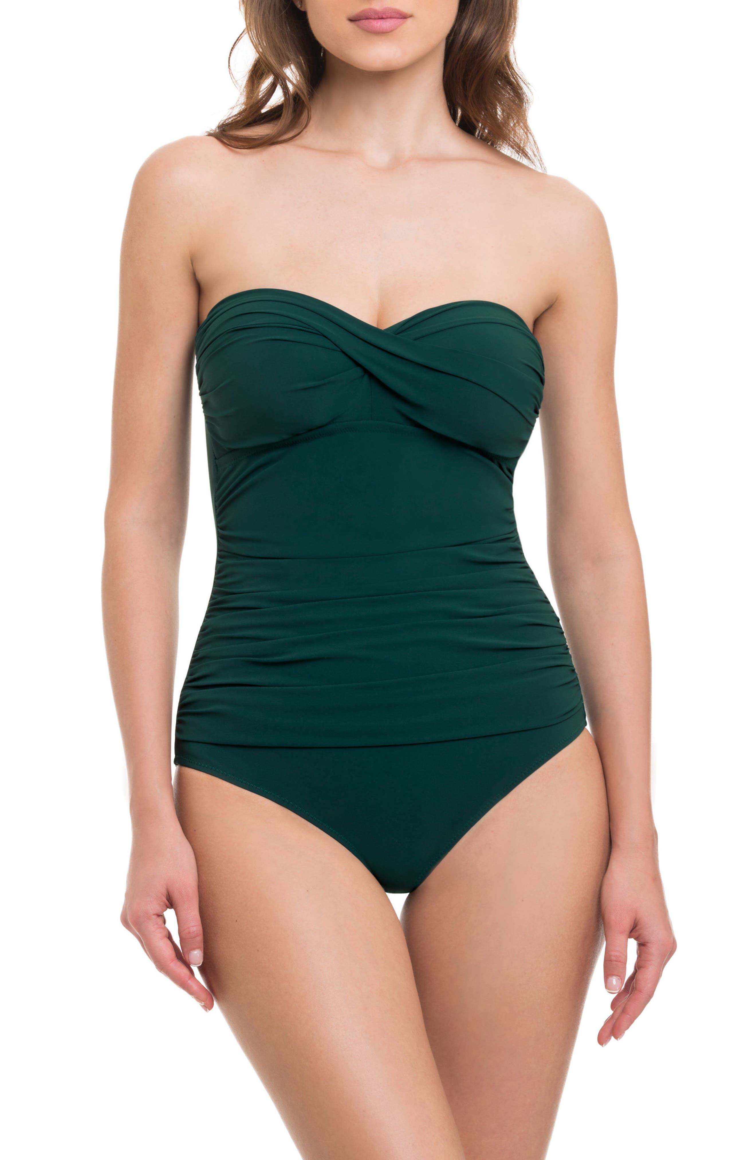 Profile by Gottex 'Tutti Frutti' Bandeau One-Piece Swimsuit