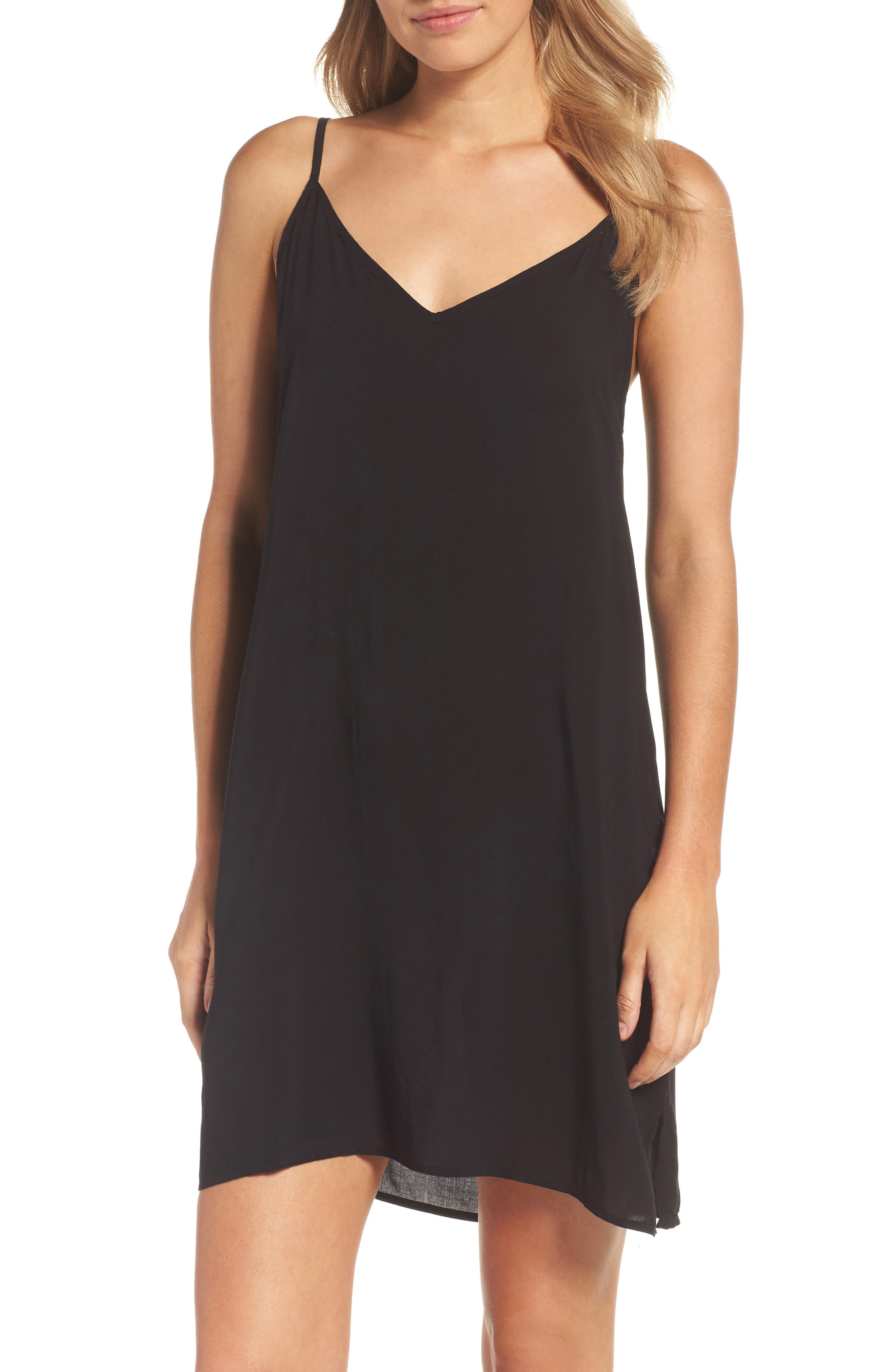 V-Neck Chemise,                         Main,                         color, Tar