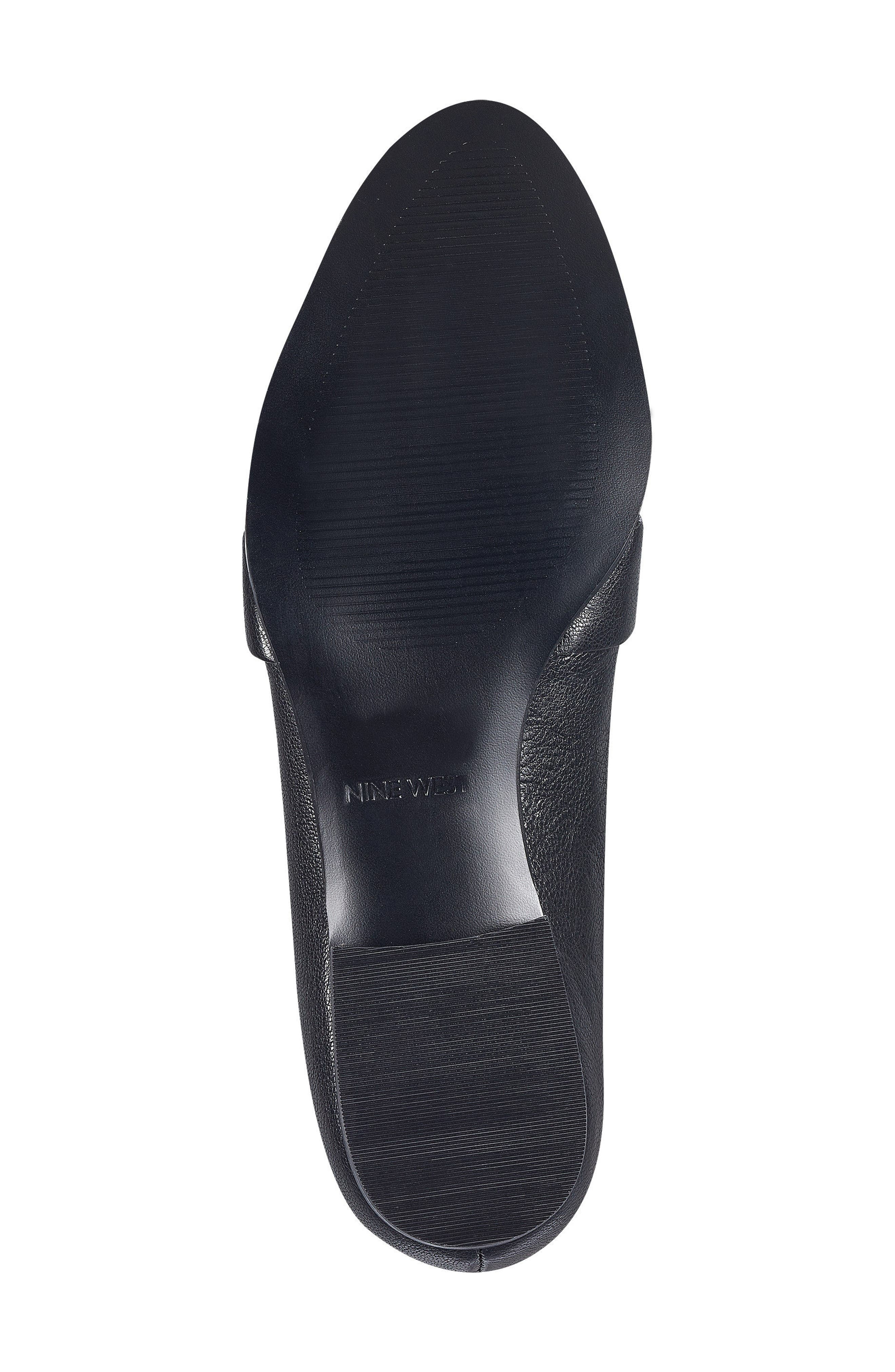 Huff Loafer Flat,                             Alternate thumbnail 6, color,                             Black Leather