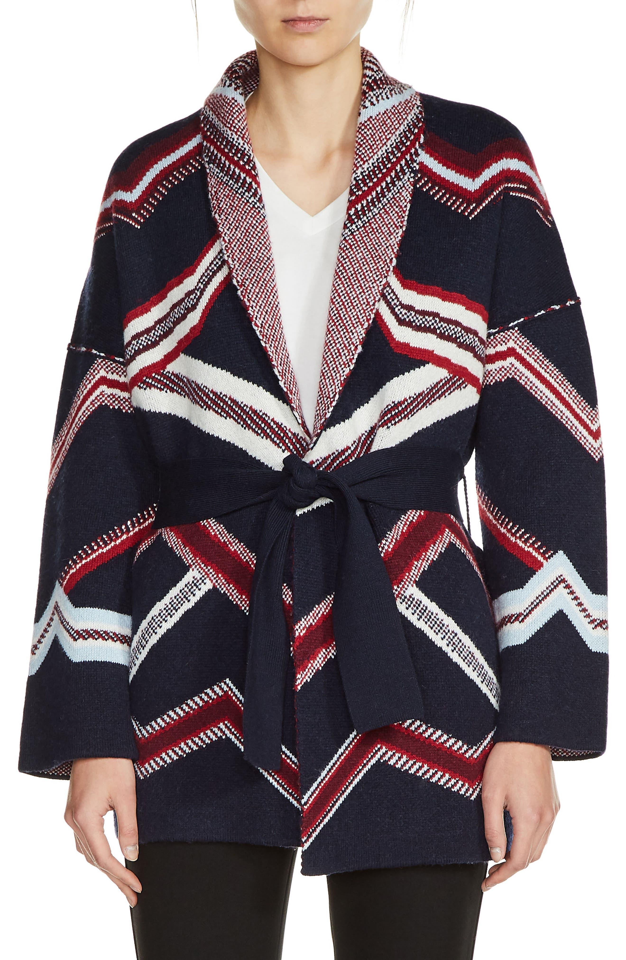 Alternate Image 1 Selected - maje Belted Kimono Cardigan