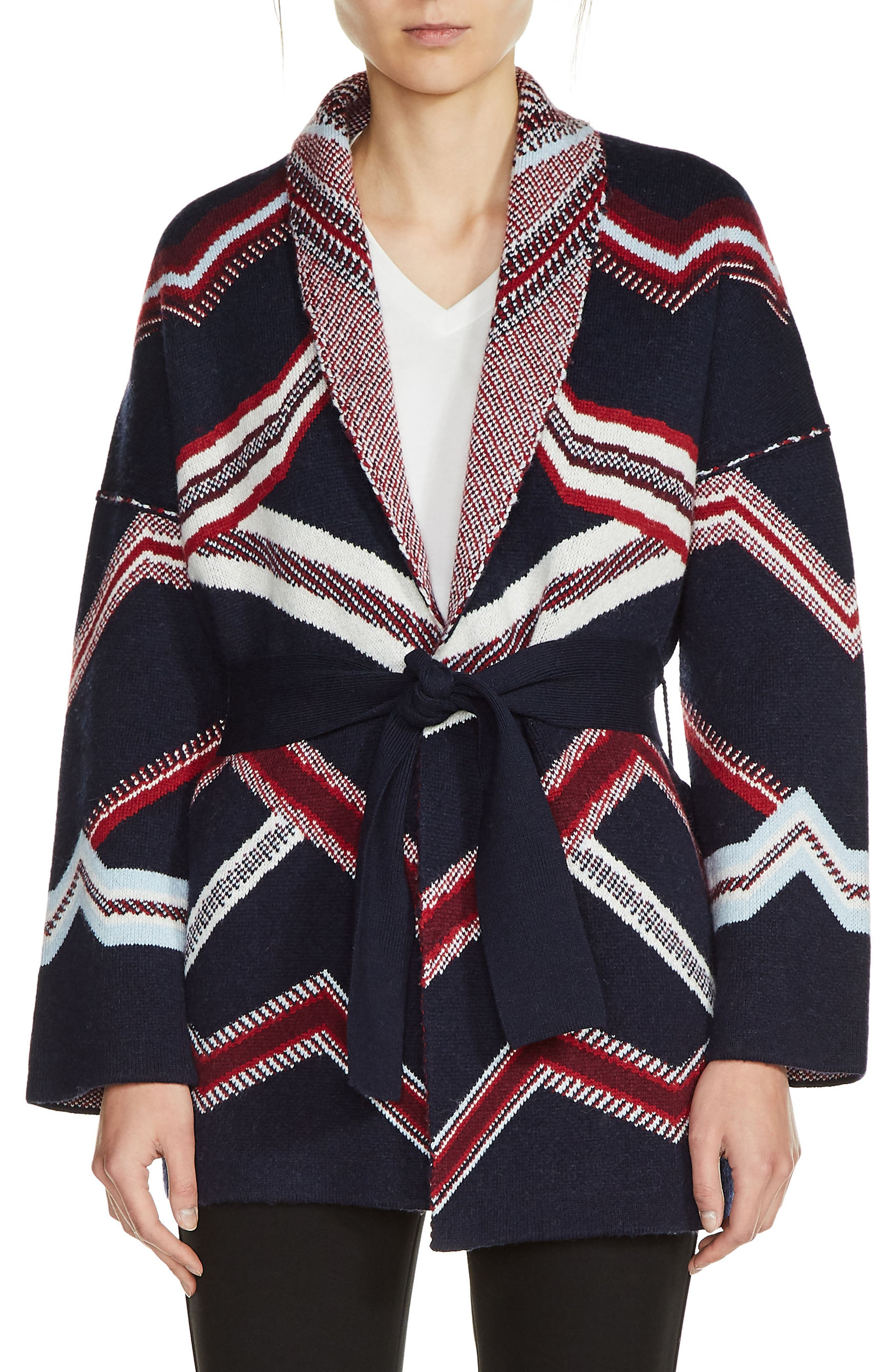 Belted Kimono Cardigan,                         Main,                         color, Navy