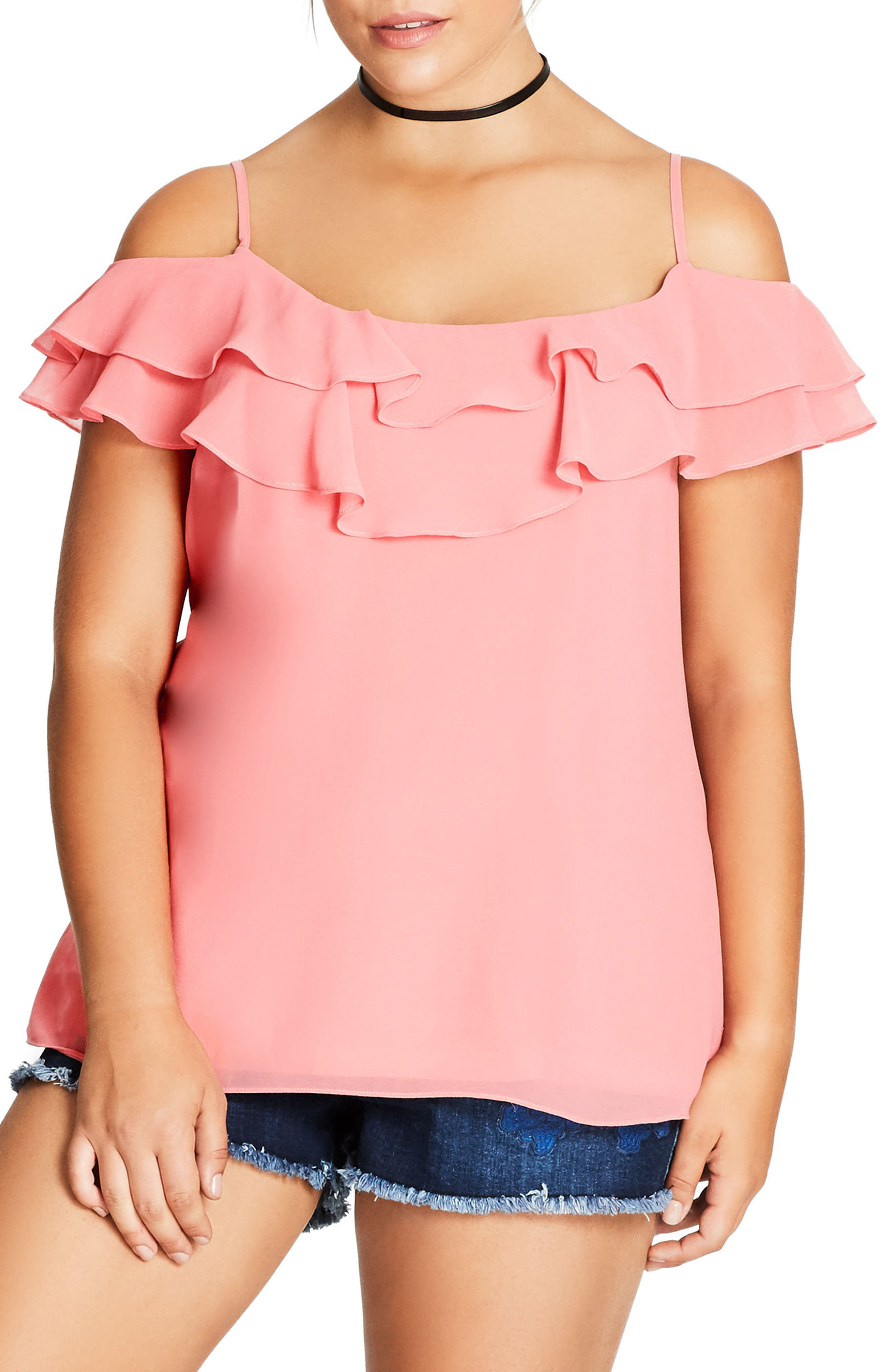 Alternate Image 1 Selected - City Chic Lazy Days Top (Plus Size)